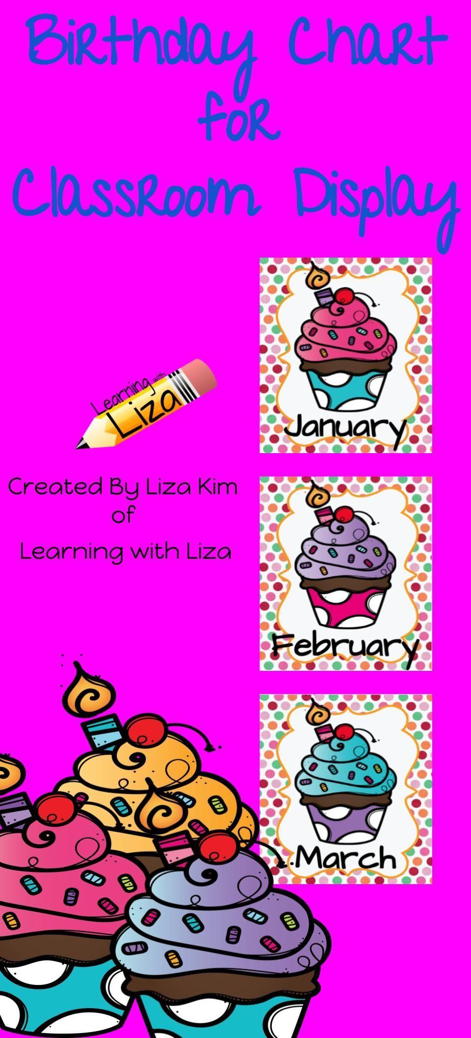Cupcake Birthday Chart | Birthday Charts, Birthday Chart for Cupcake Birthday Chart