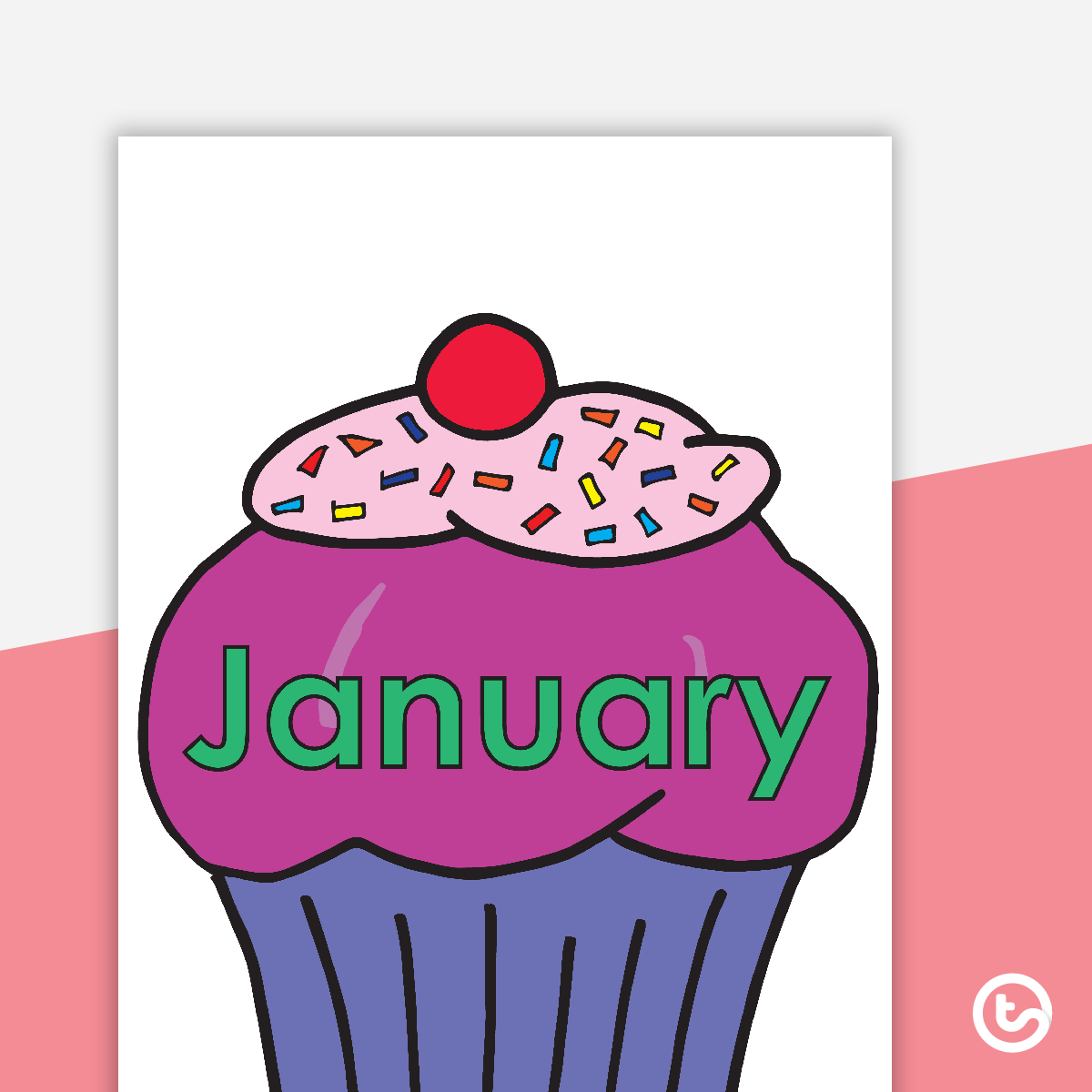 Cupcake Birthday Chart in Free Printable Birthday Chart