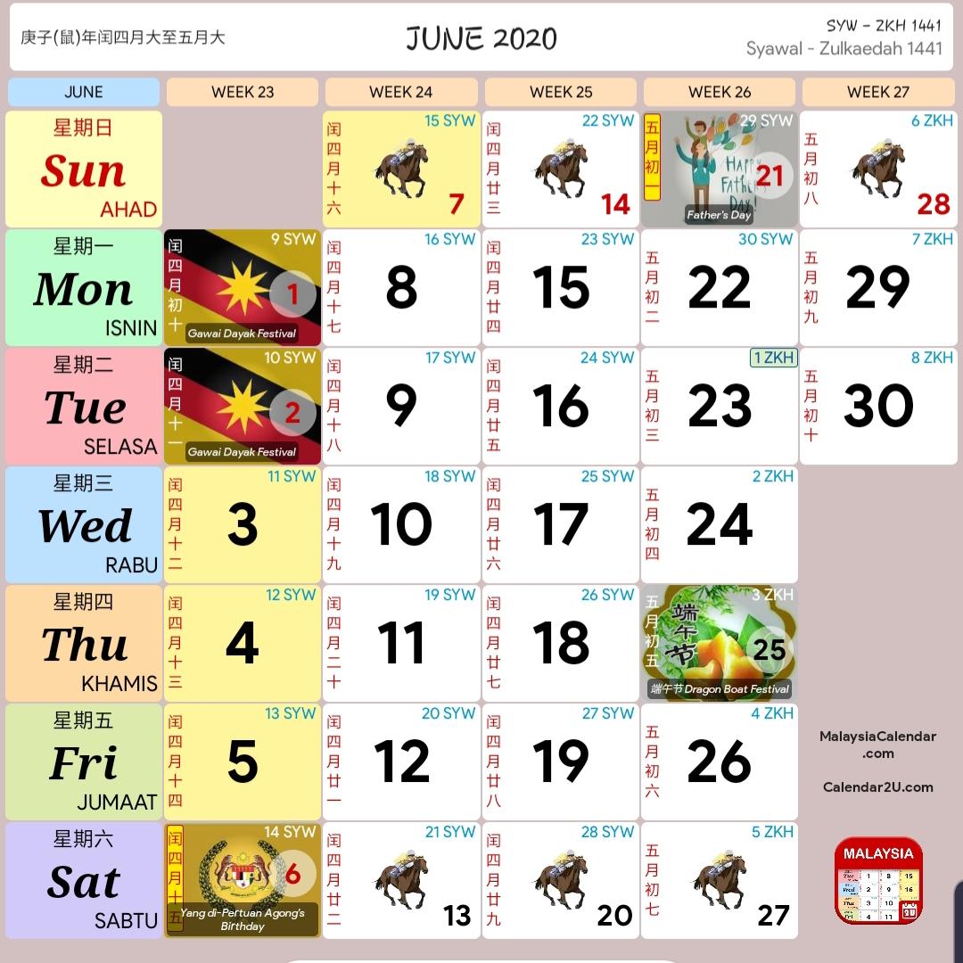 Cuti Sekolah 2020 Dan Kalendar 2020  Rancang Percutian Anda pertaining to Kalendar Kuda Tahun 2020