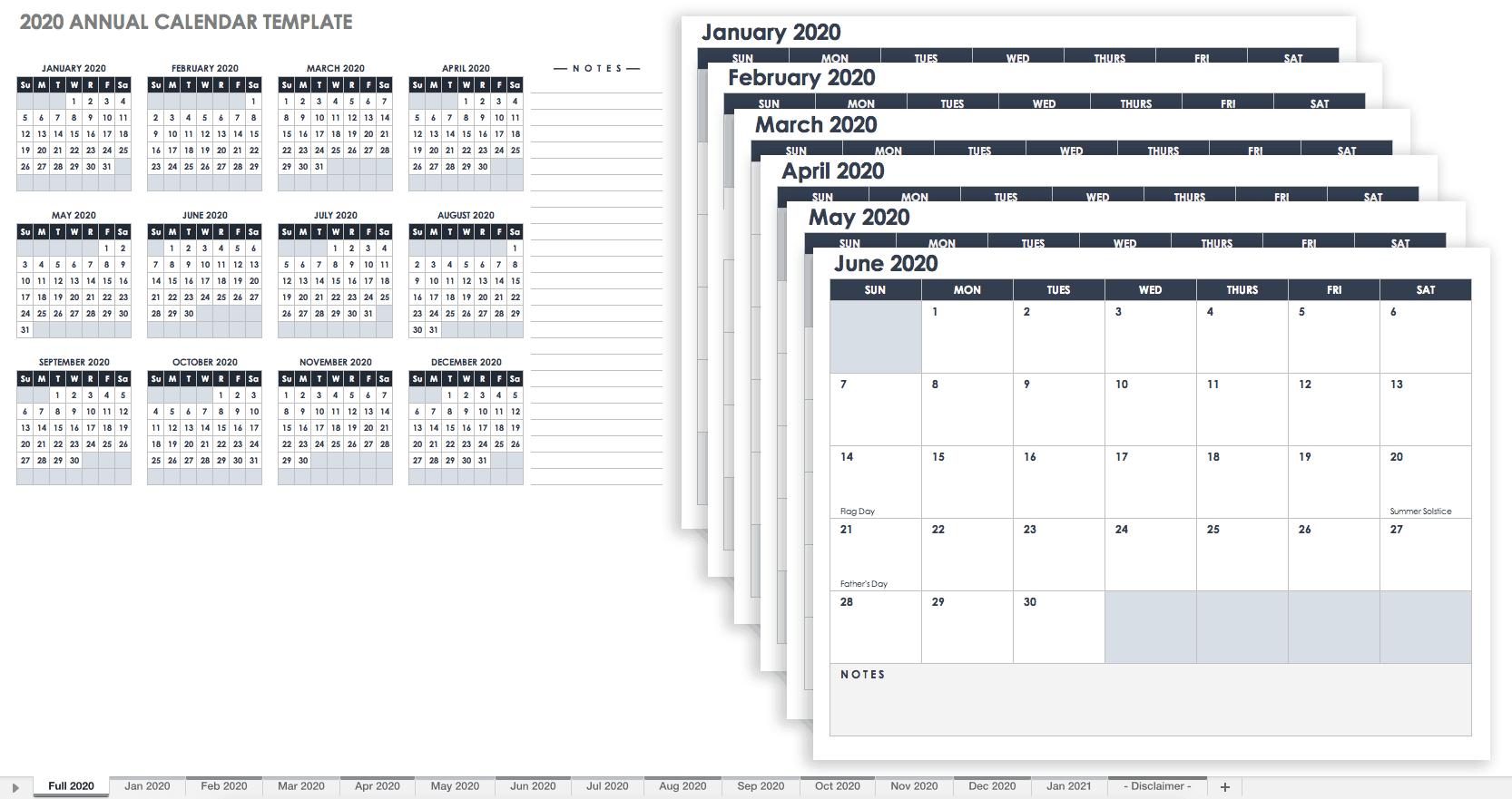 Бесплатные Шаблоны Календарей Excel На 2019 Г. И Далее С within Kalendar Excel 2020