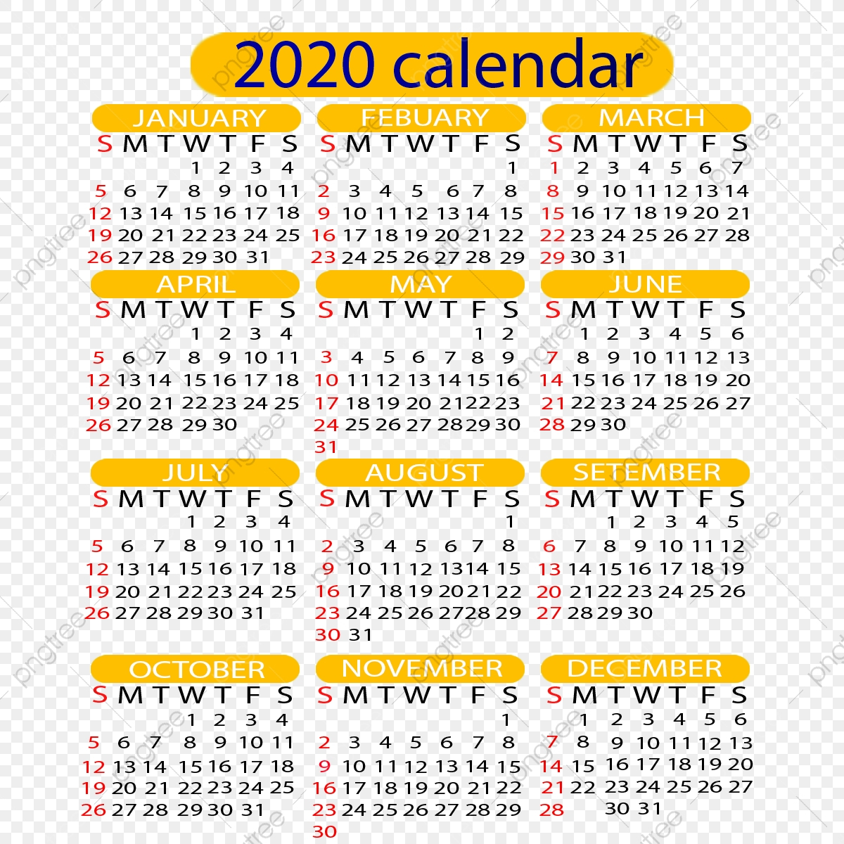 К 2020 Году Календарь, Календарь, Календарь, Год Png И Psd throughout 2020 Calendar Psd File