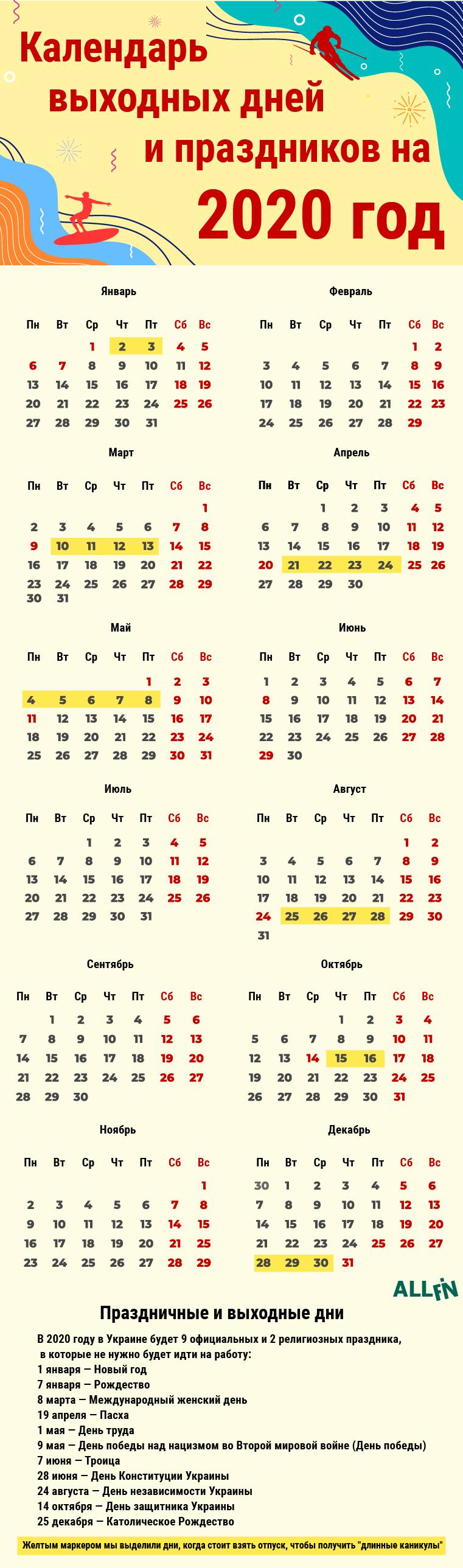 Как В 2020 Году Отдохнуть Больше Чем Положено По Календарю throughout Kuda Calendar 2020