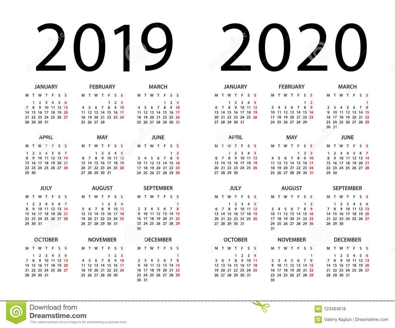 Календарь 2019 2020  Иллюстрация Старты Недели На within Kalendar Kuda September 2020