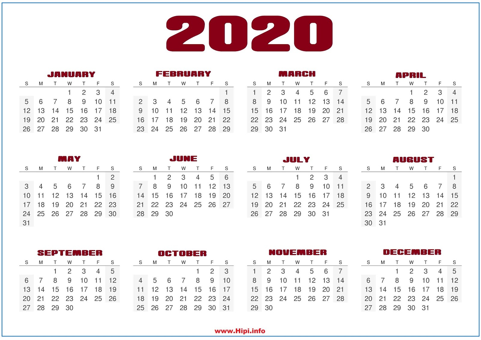 Календарь 2020  Bagno.site in Calendario Zbinden 2020