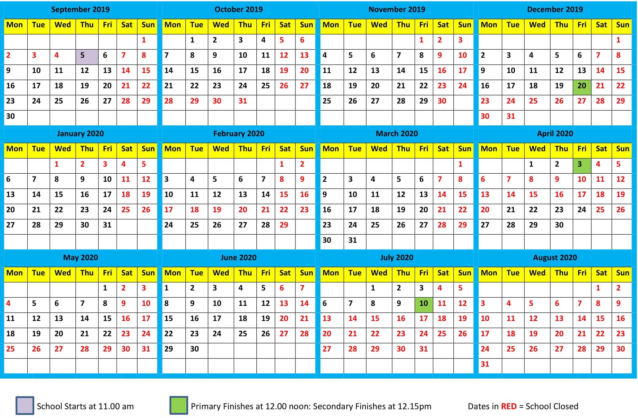 Календарь 2020  Bagno.site regarding Parent24 School Calendar 2020