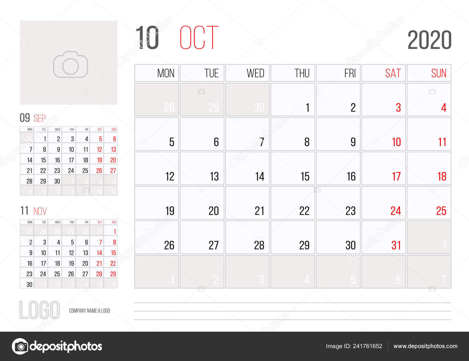 Календарь 2020 Планировщик Корпоративный Шаблон Дизайна pertaining to Sep Calendario 2020