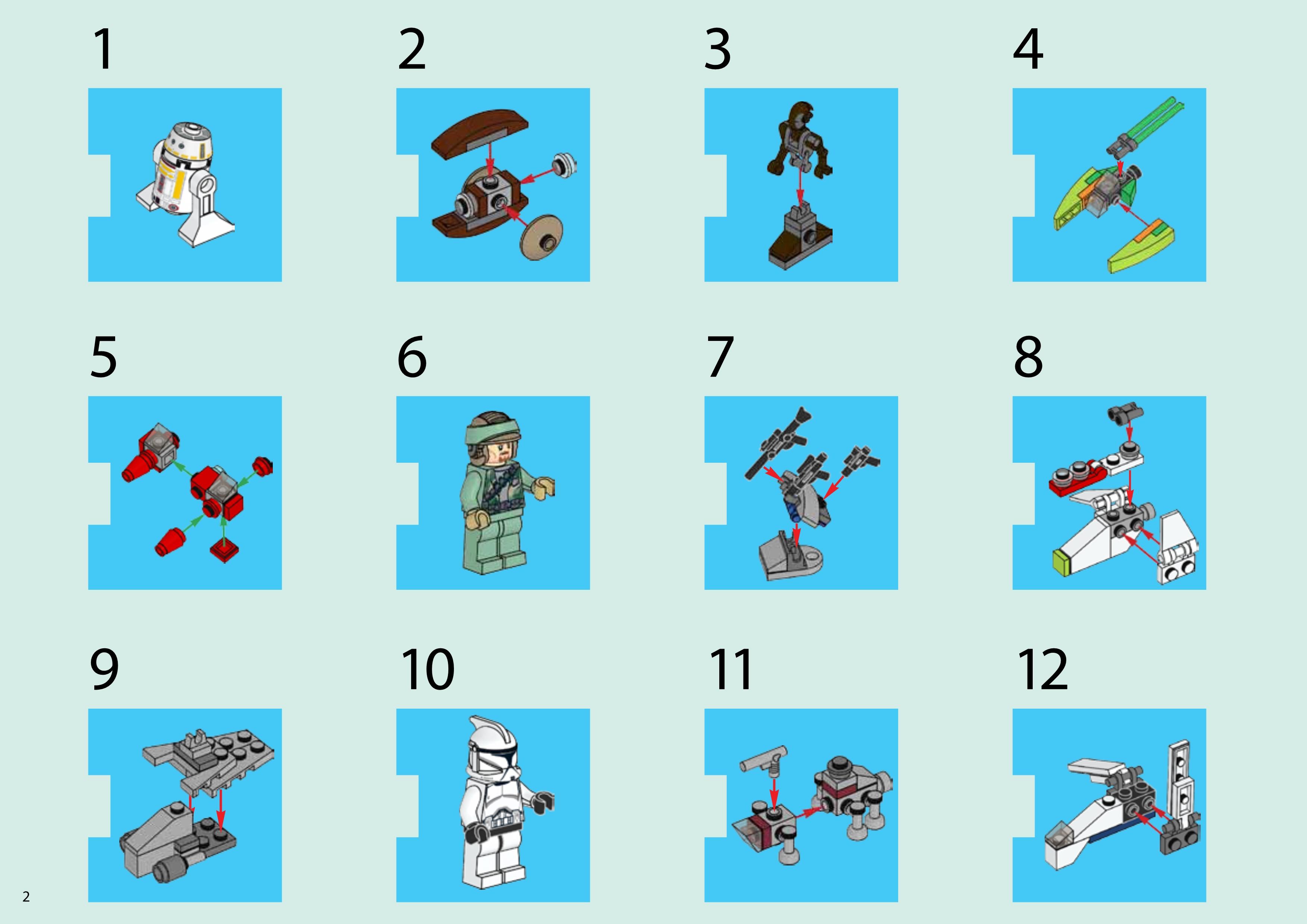 Лего 75023 Star Wars Advent Calendar for Lego Star Wars Calendar 2013