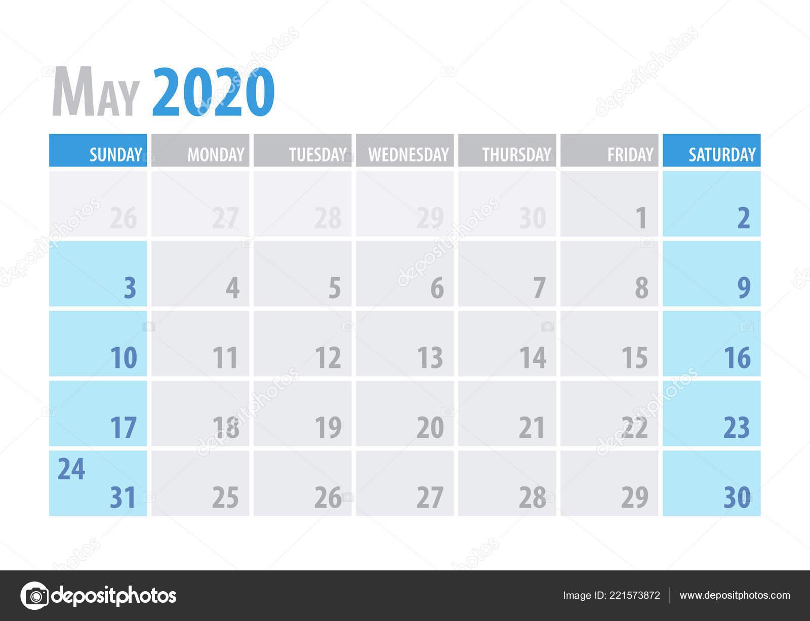 Мая. Календарь Планировщик 2020 В Чистой Минимальный Простой with Maya Calendar 2020