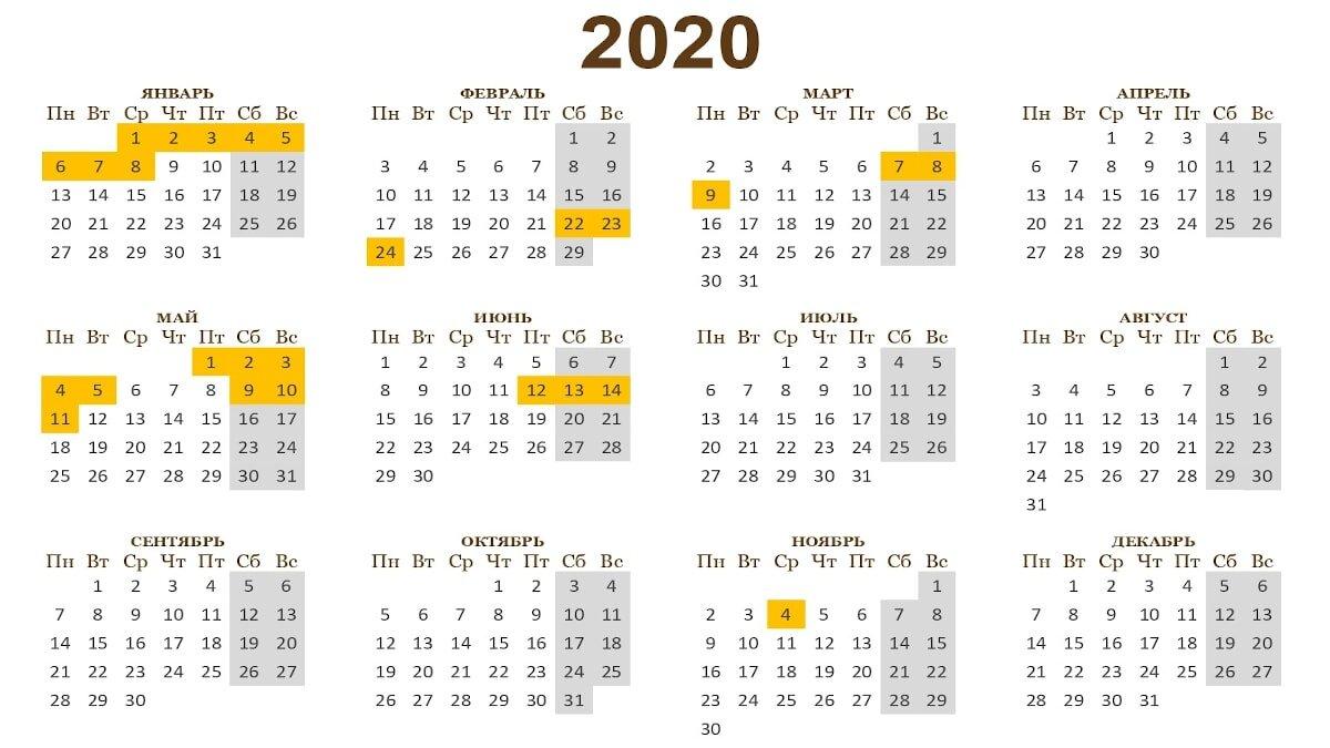 Названо Число Коротких Рабочих Недель В 2020 Году within Kalendar Kuda May 2020