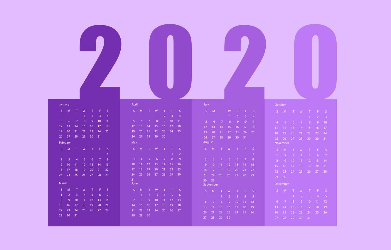 Обои Новый Год, Календарь, 2020 Картинки На Рабочий Стол pertaining to Kalendar Kuda September 2020