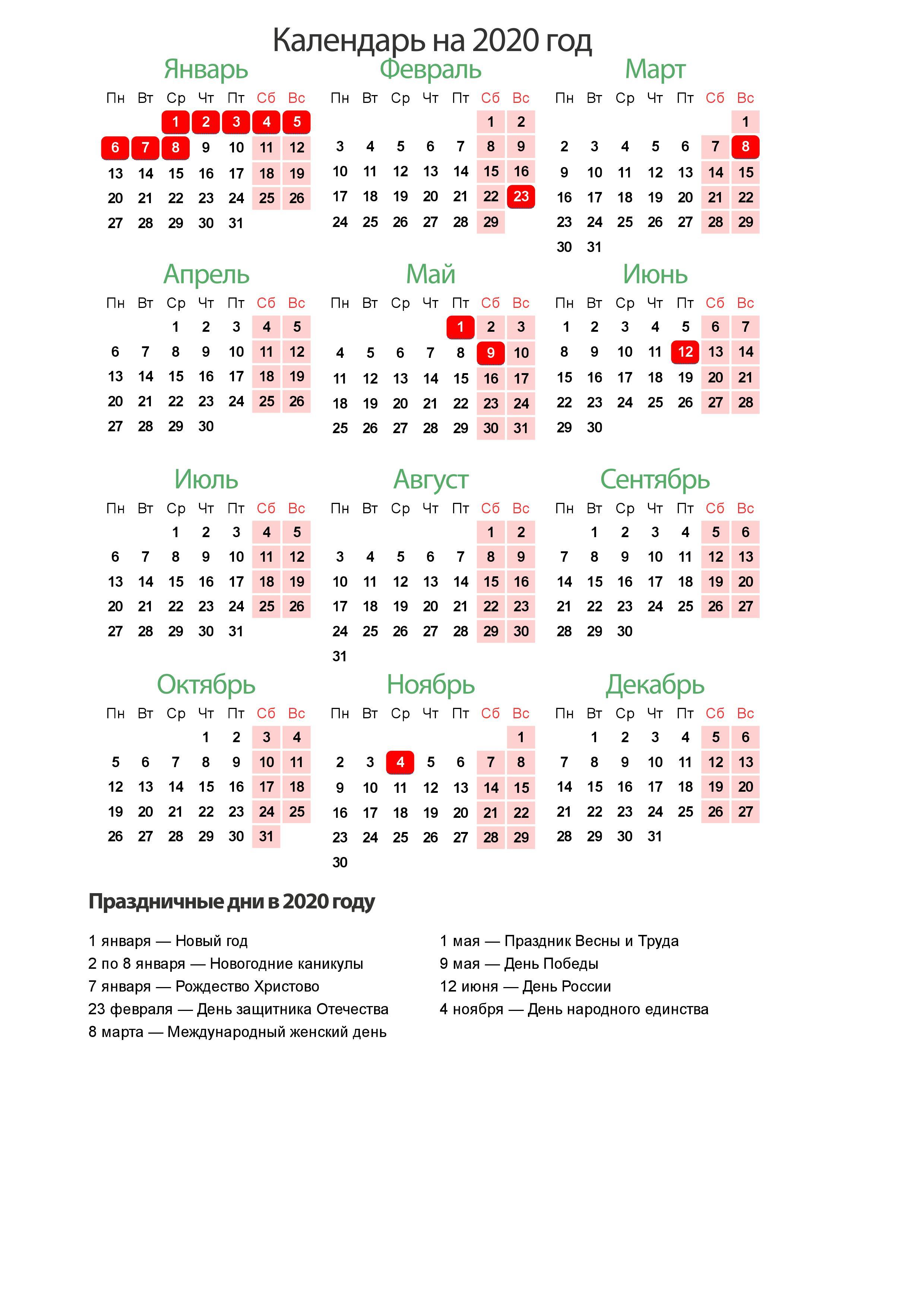 Праздники России 2020. Календарь Праздников На 2020 Год Для with regard to Maya Calendar 2020