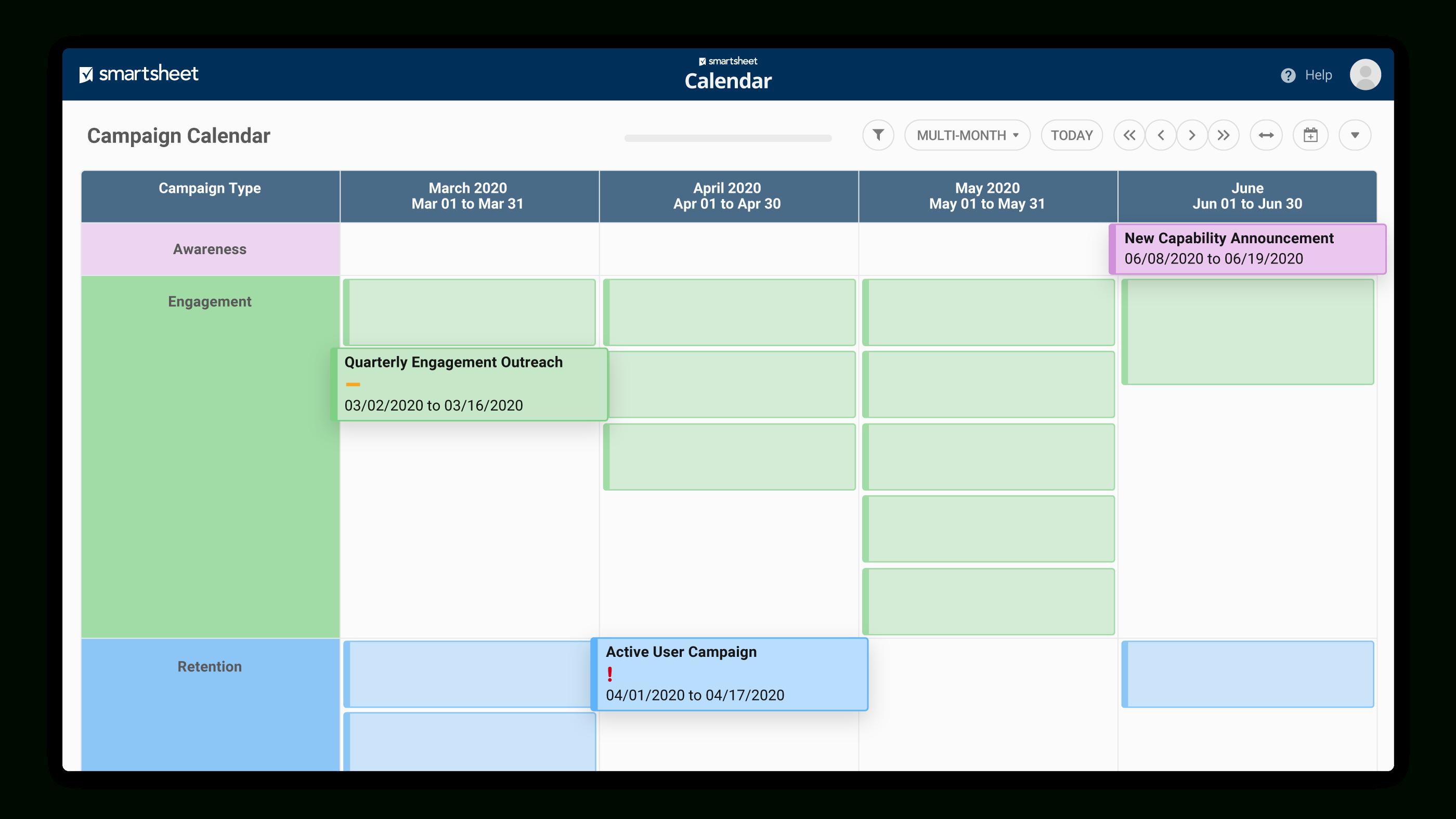 Развивайте Свой Бизнес С Помощью Действенных Маркетинговых pertaining to Smartsheet Marketing Calendar