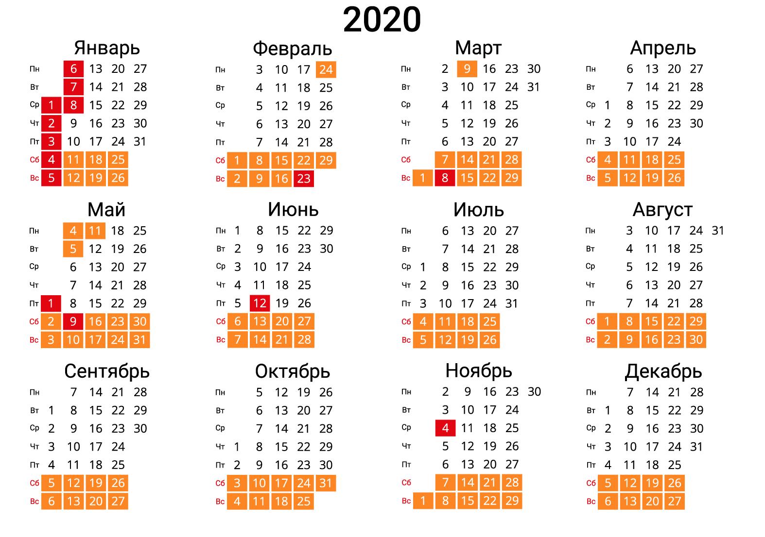 Скачать Календарь На 2020 Год В Форматах: Word, Pdf, Jpg throughout Kalendar Kuda 2020 Pdf