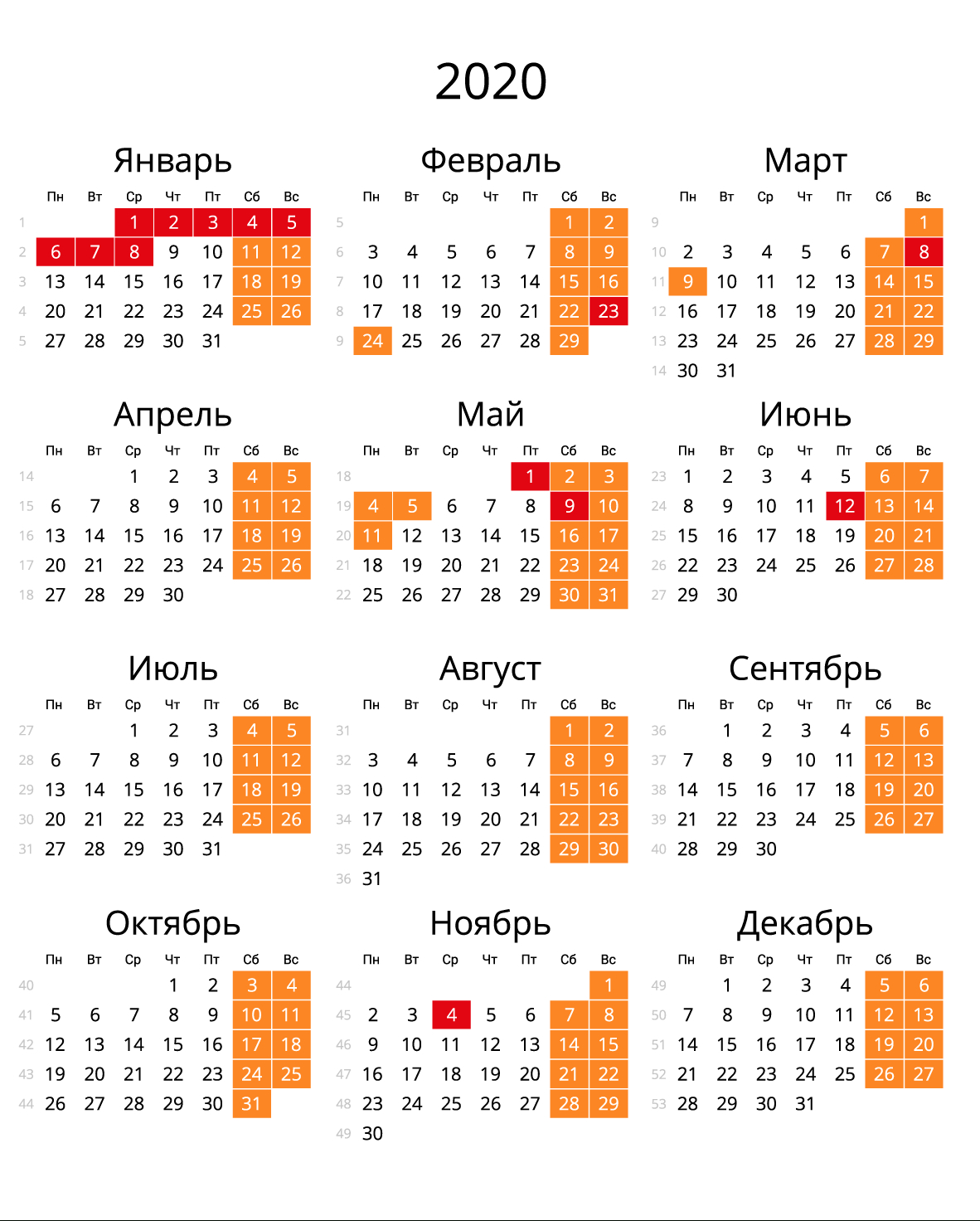 Скачать Календарь На 2020 Год В Форматах: Word, Pdf, Jpg inside Kalendar Kuda 2020 Pdf