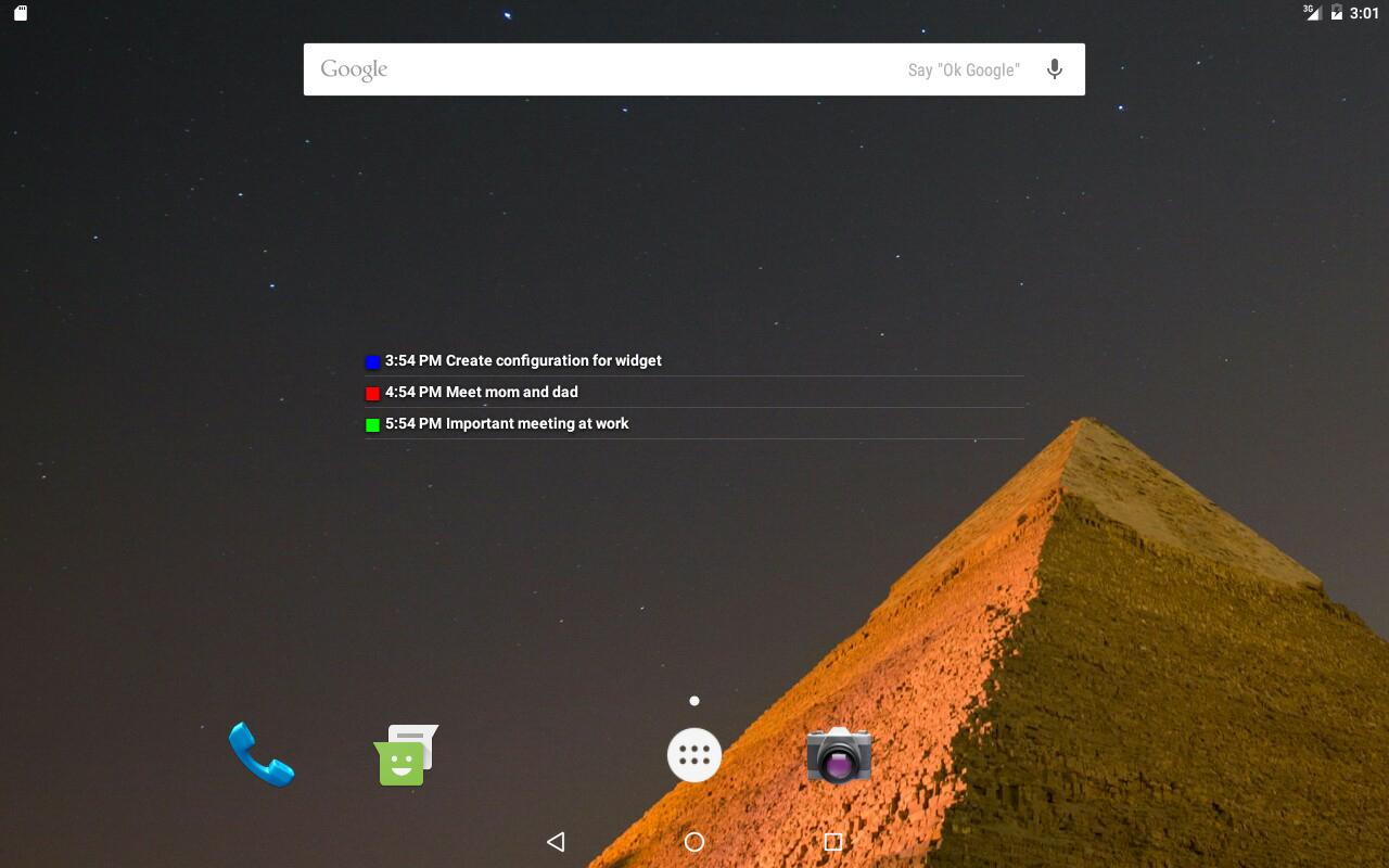 Скачать Transparent Calendar Widget 1.3.8 Для Android throughout Transparent Calendar Widget