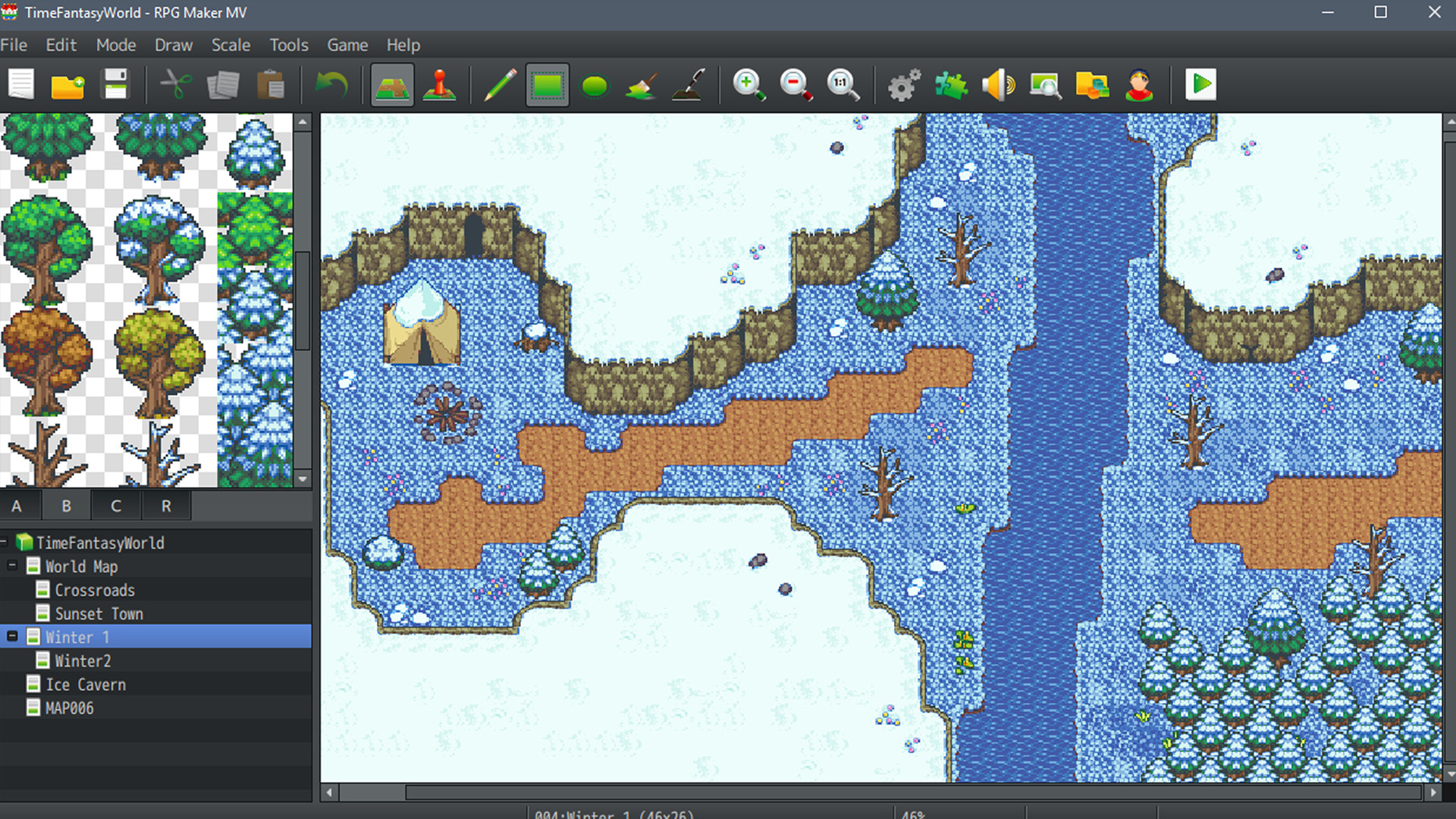 Скидка На Rpg Maker Mv. Time Fantasy. Winter Tiles with regard to Rpg Maker Mv Clock