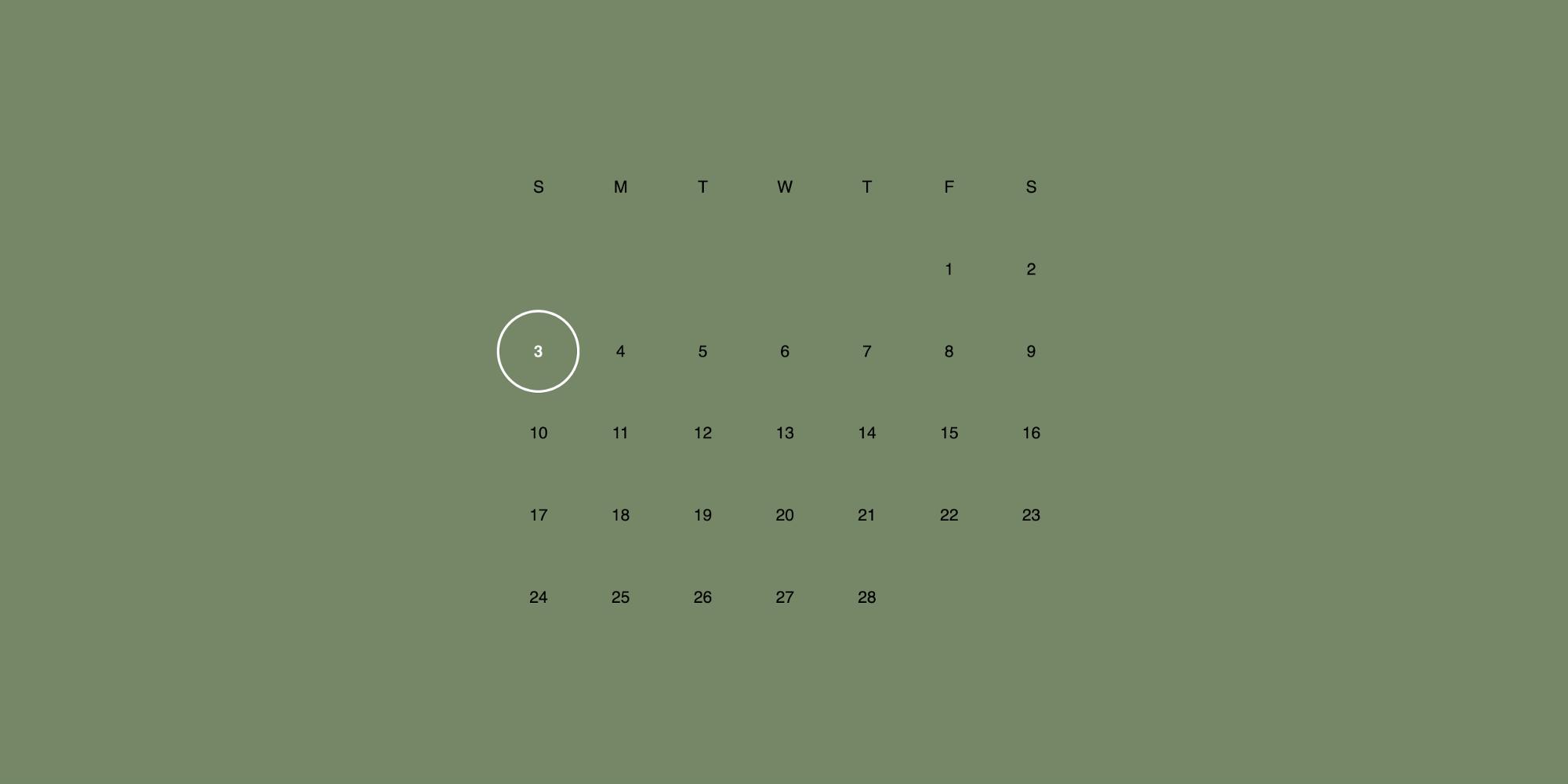 Создание Чертовски Простого Макета Календаря С Помощью Css with Calendar Template Html Css