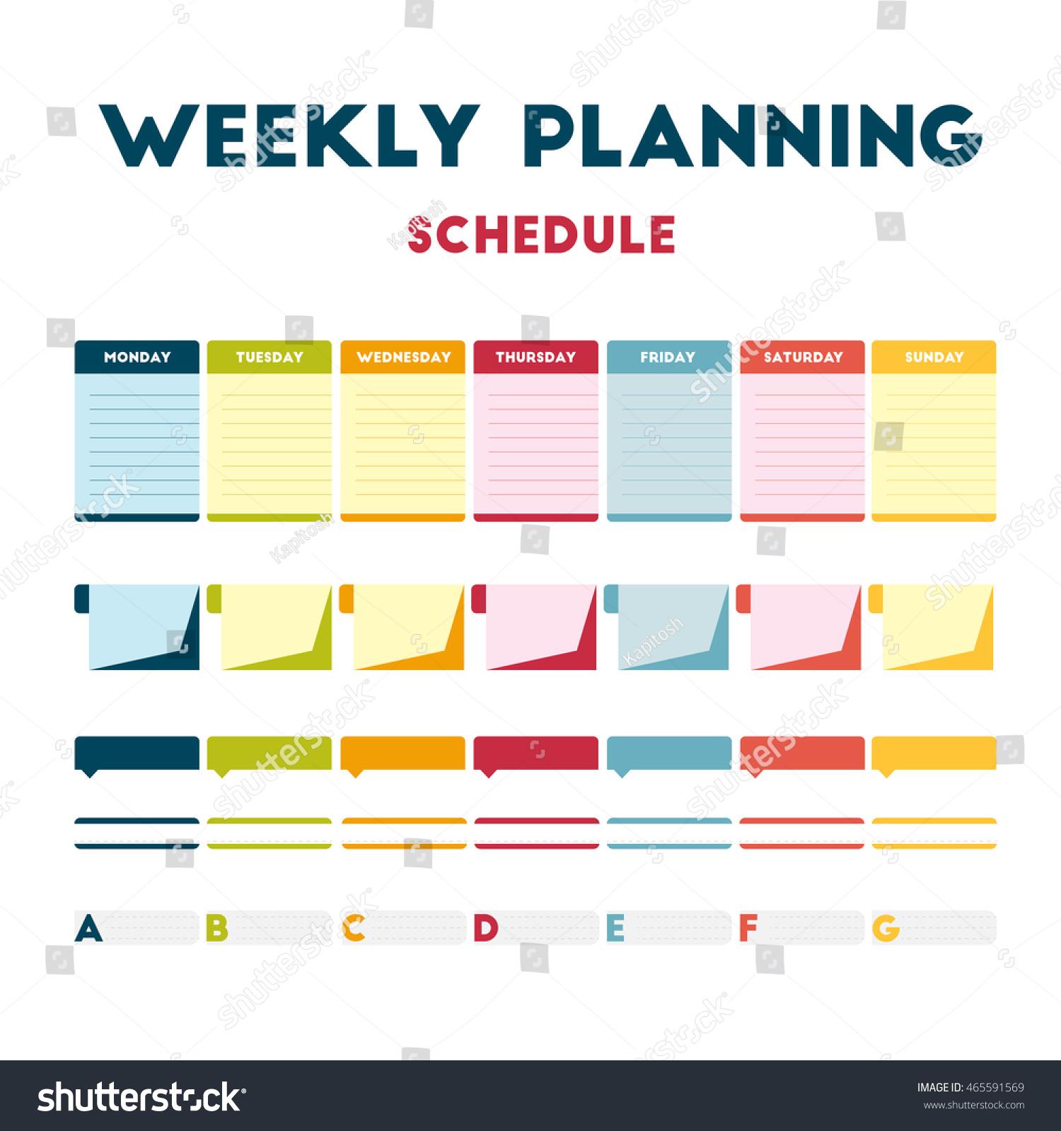 Стоковая Векторная Графика «Flat Design Infographic Colored intended for Calendar Flat Design