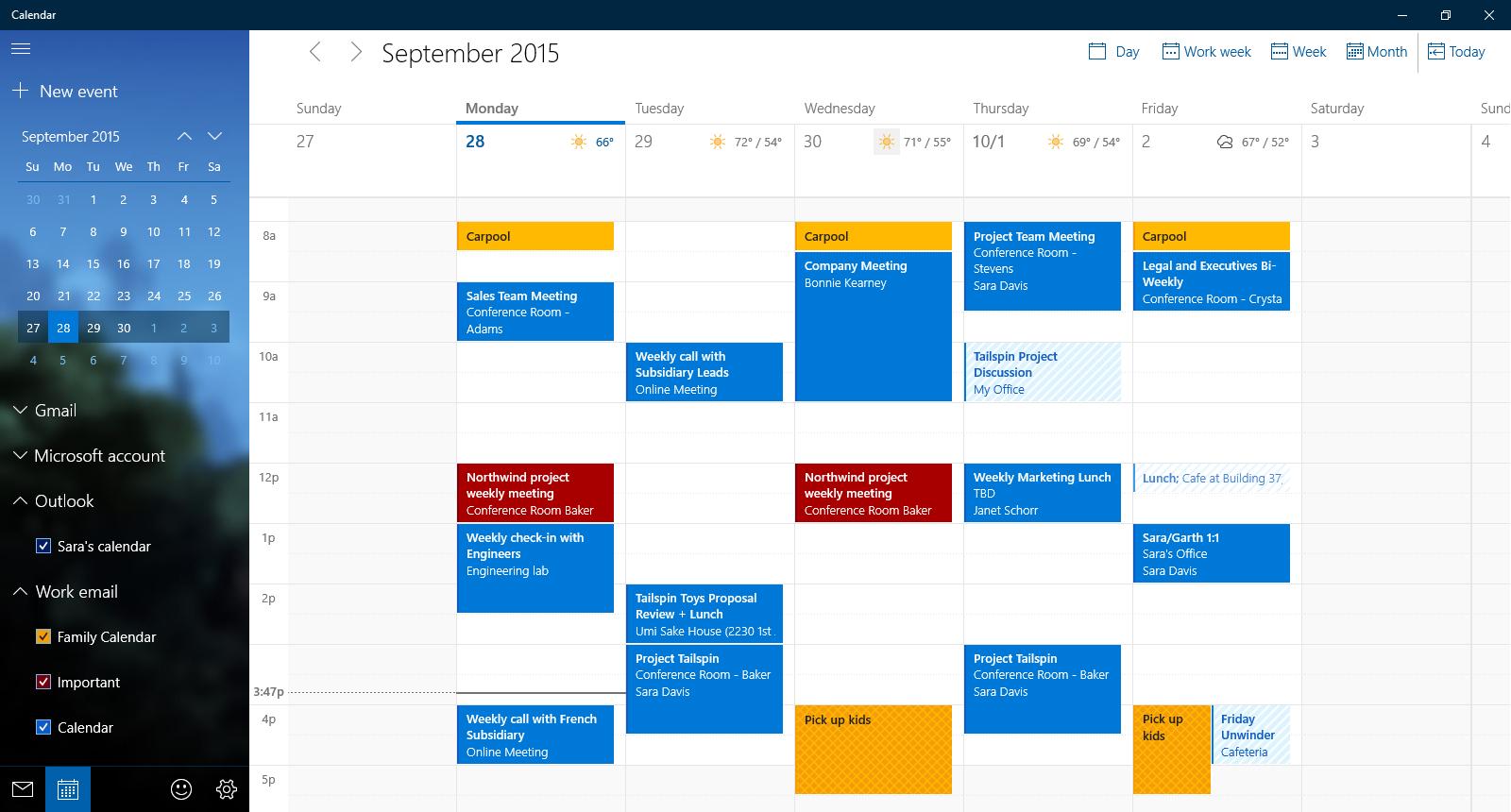 Что Нового В Windows 10?  Блог Windows Россия for Calendar Gadget Windows 10