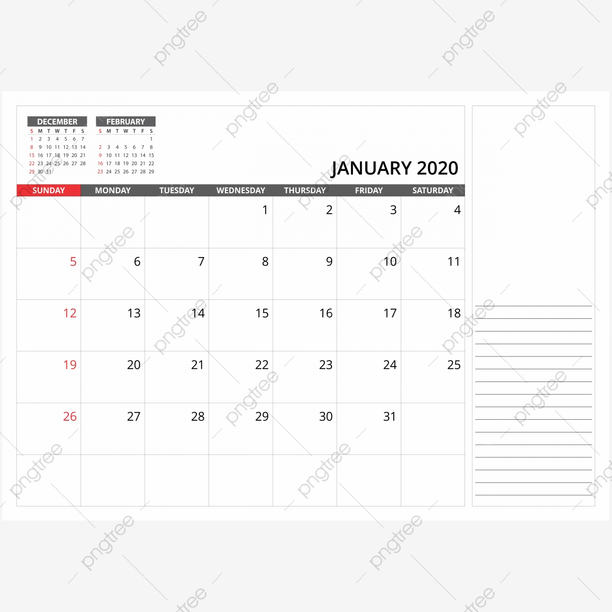 Январь Ежемесячный Настольный Календарь, Календарь, Png intended for January 2020 Calendar Png