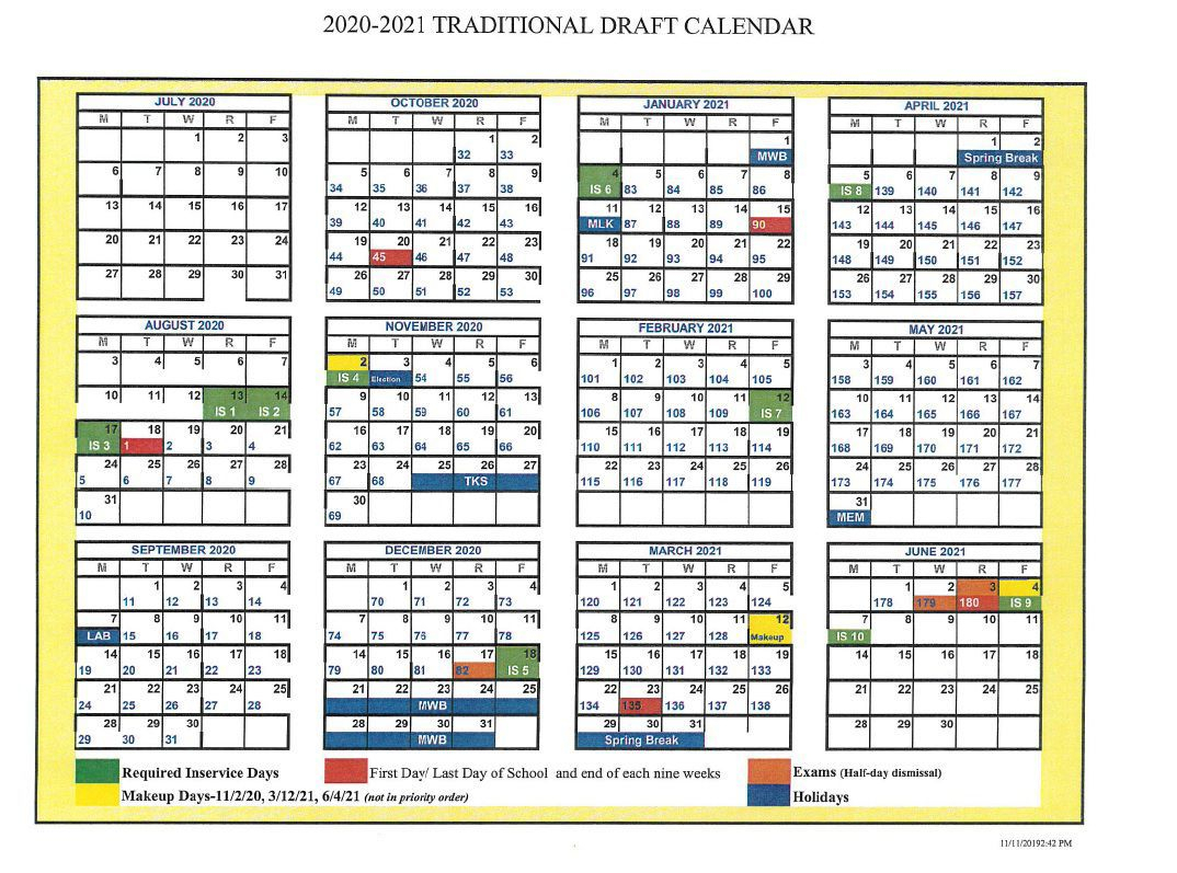 D50 Proposes Delaying Modified Calendar To 202122 with regard to Tl Hanna School Calendar