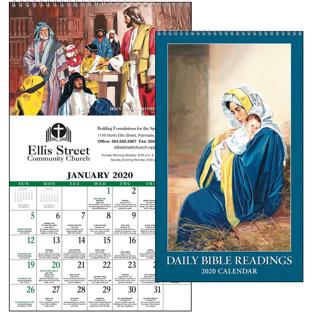 Daily Bible Readings Calendar (2020) with regard to Catholic Liturgical Calendar 2020 With Daily Readings