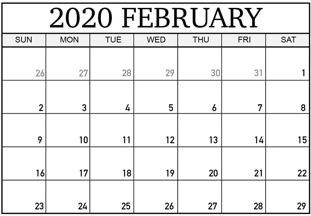 Daily Calendar For February 2020 With Holidays  Set Your for February 2020 Daily Calendar