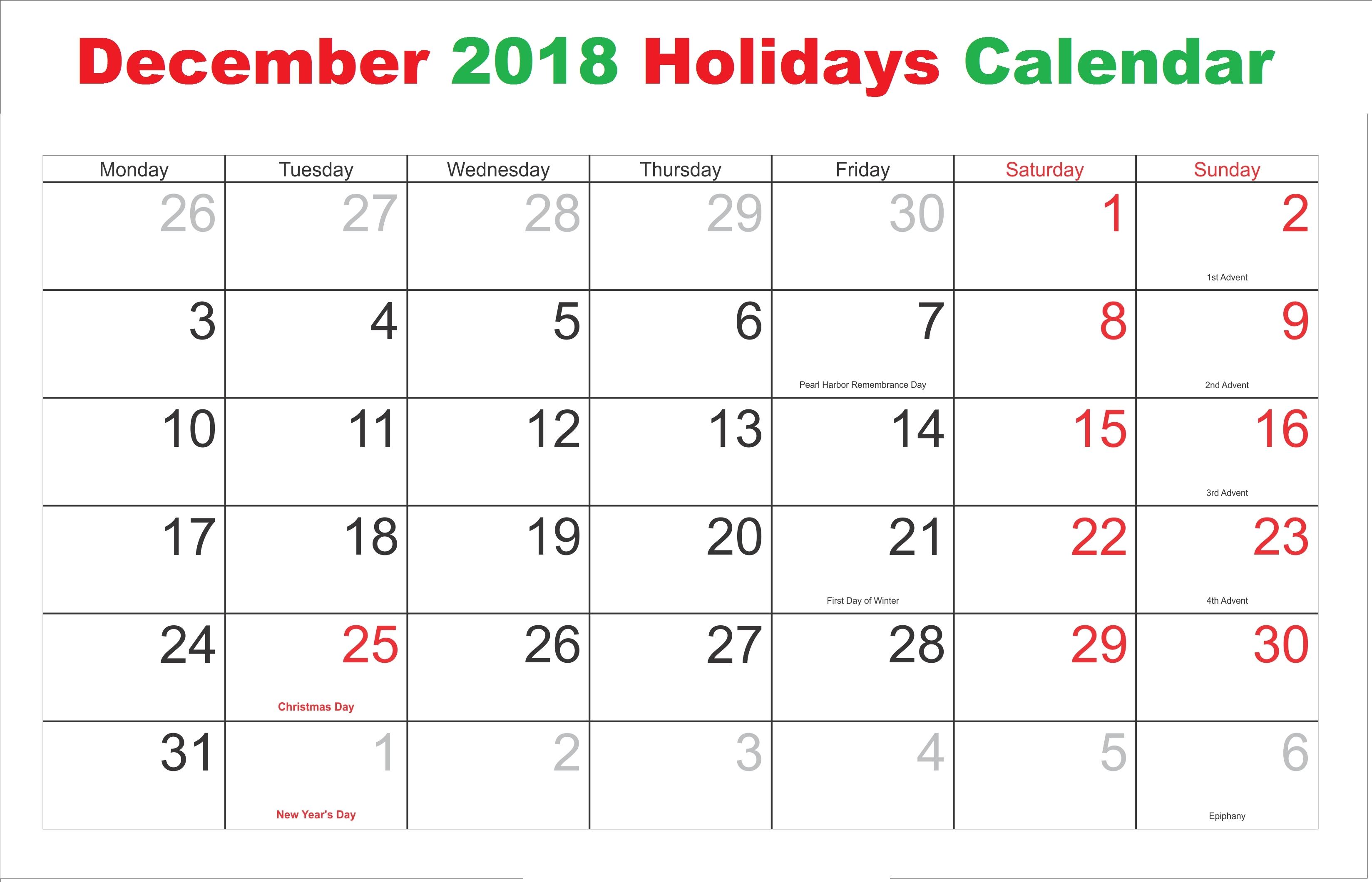 Daily Catholic Calendar December 2019 | Example Calendar in Catholic Advent Calendar Printable