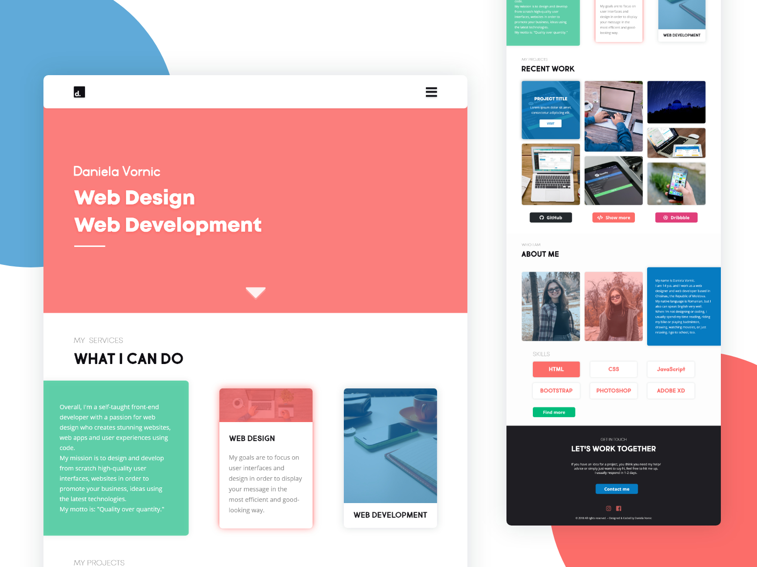 Daily Ui Challenge #003 — Landing Page By Daniela Vornic On pertaining to Daily Css Challenge