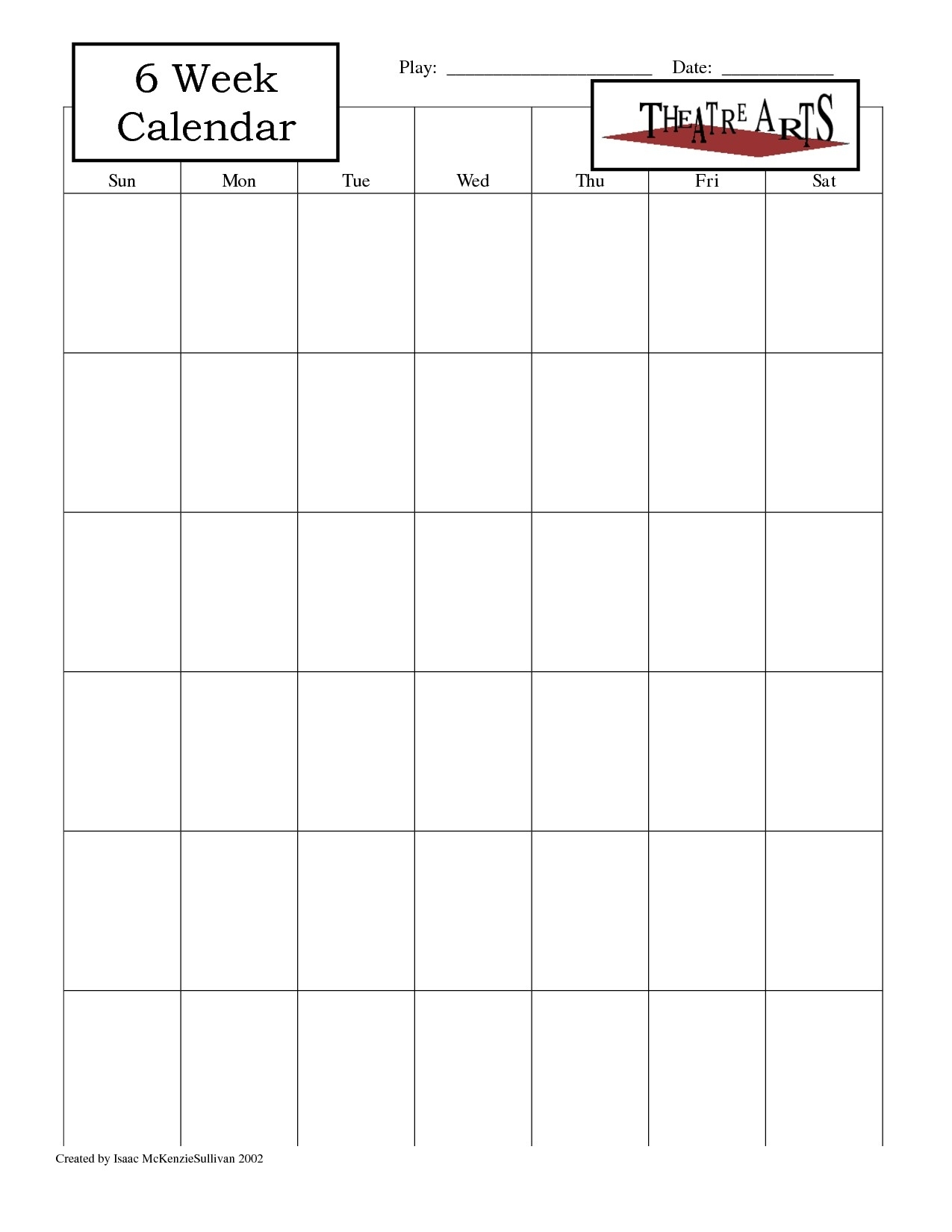 Dandy Printable Calendar 6 Week : Mini Calendar Template with Printable Blank Weekly Calendar