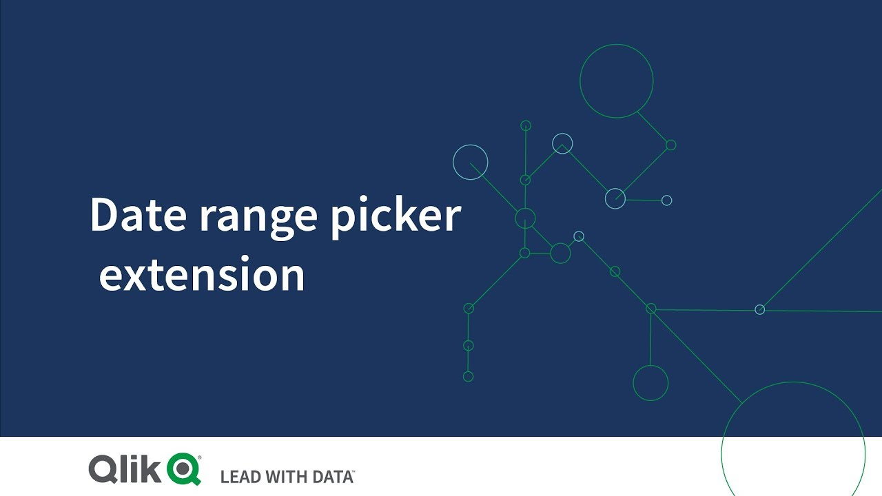 Data Picker Extensions  Qlik Sense throughout Qlik Sense Date Picker