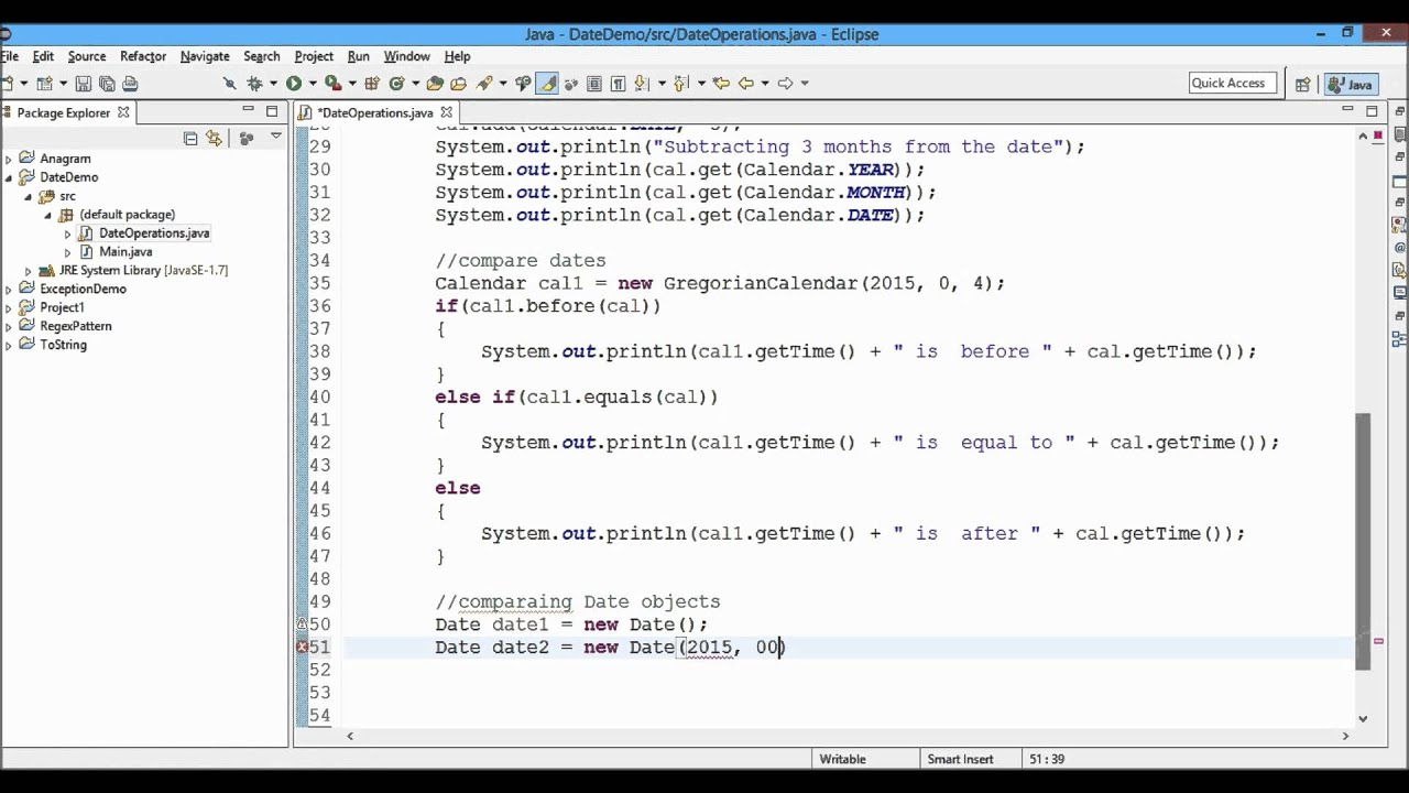 Date Operations In Java | Team Mast intended for Julian Date In Java