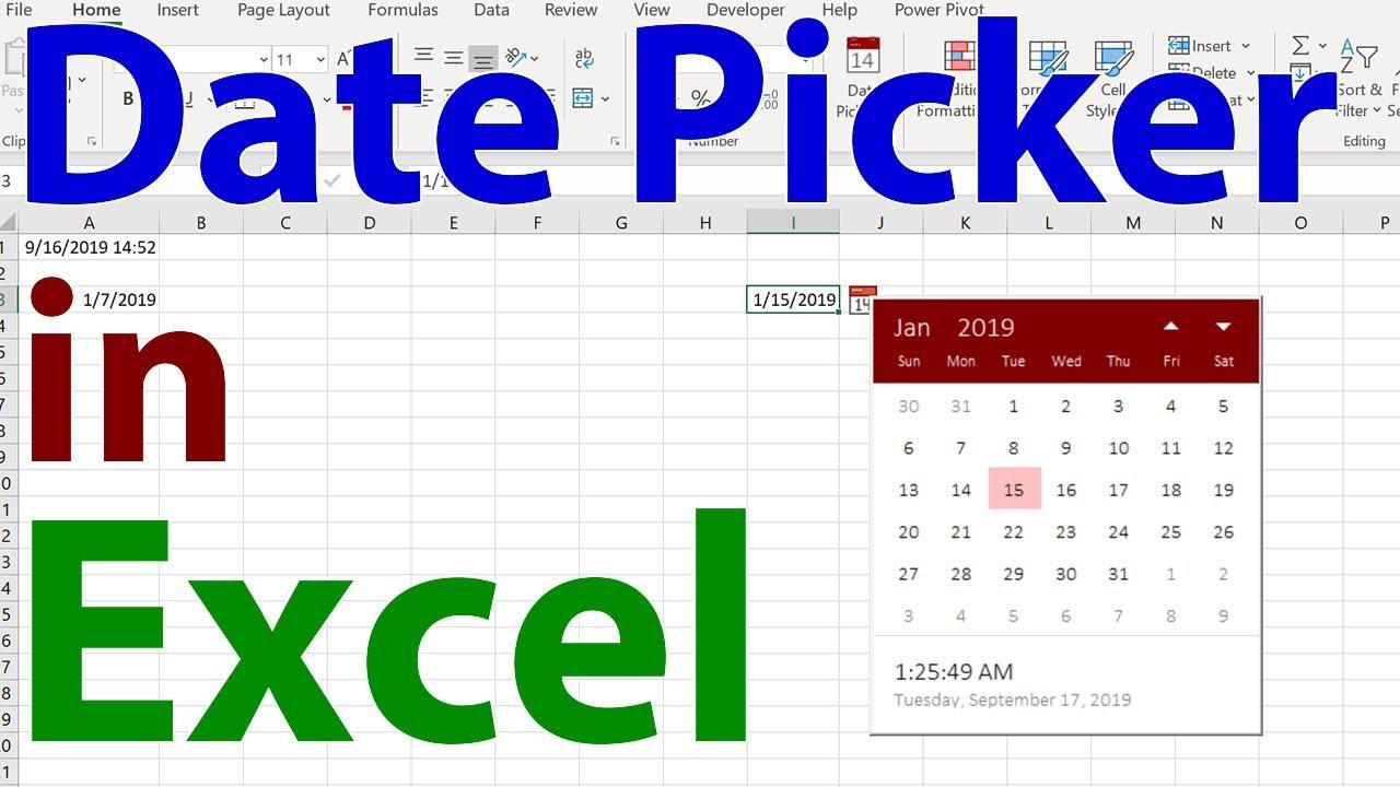 Date Picker In Excel  The Coolest Little Helper In Excel! with Nepali Date Picker