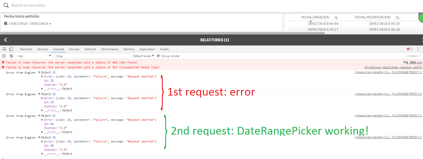 Daterangepicker Extension Become Irresponsible On Server inside Qlik Sense Date Picker