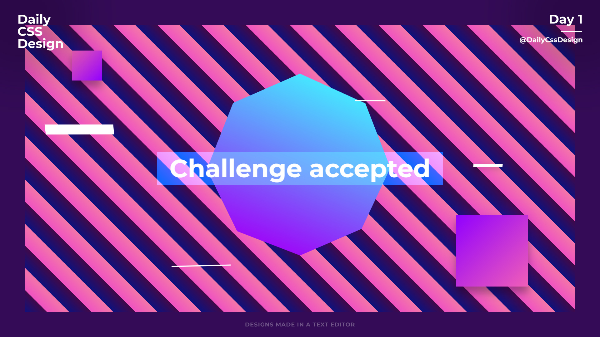 Day 1  Daily Css Design regarding Daily Css Challenge