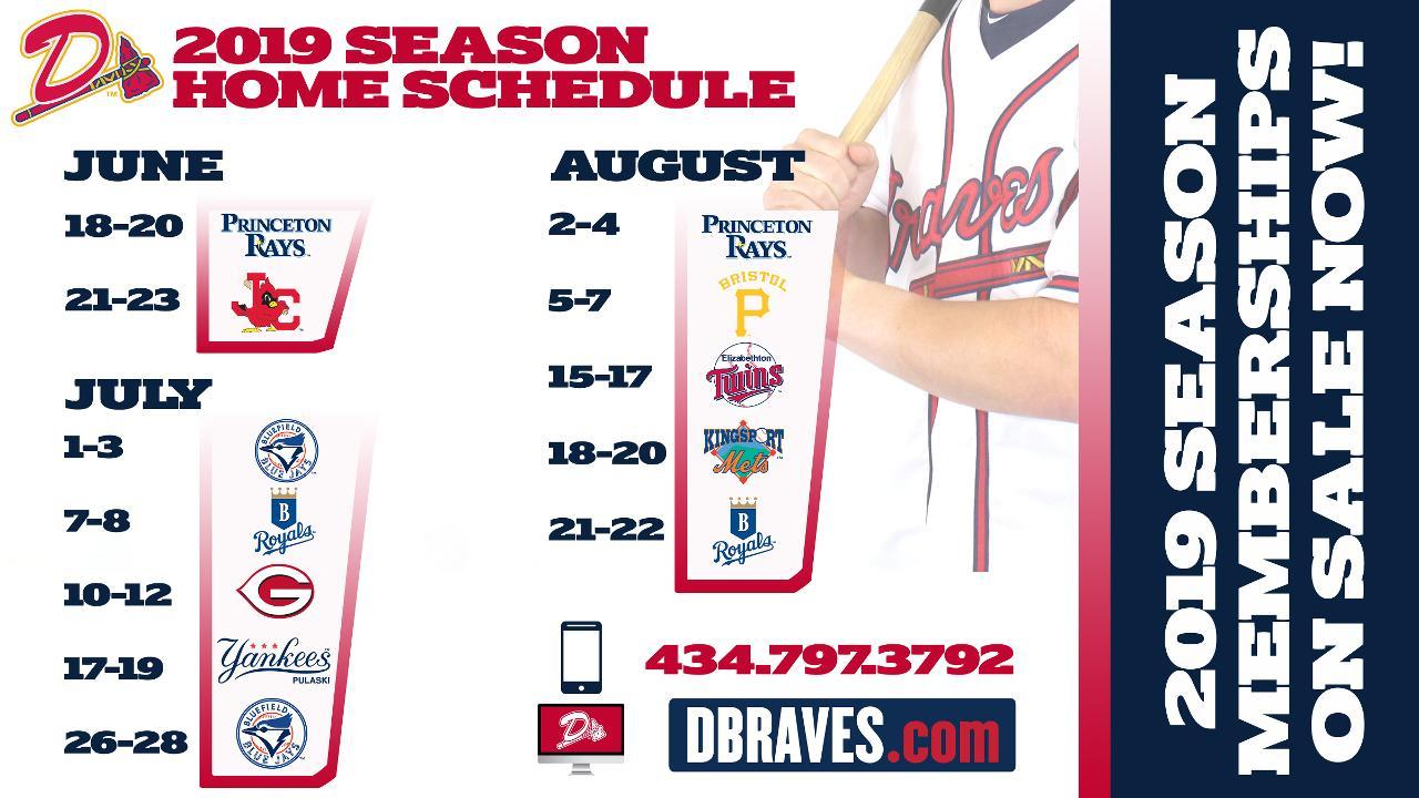 Dbraves Announce 2019 Season Schedule, Season Memberships inside Atlanta Braves Schedule 2020 Printable