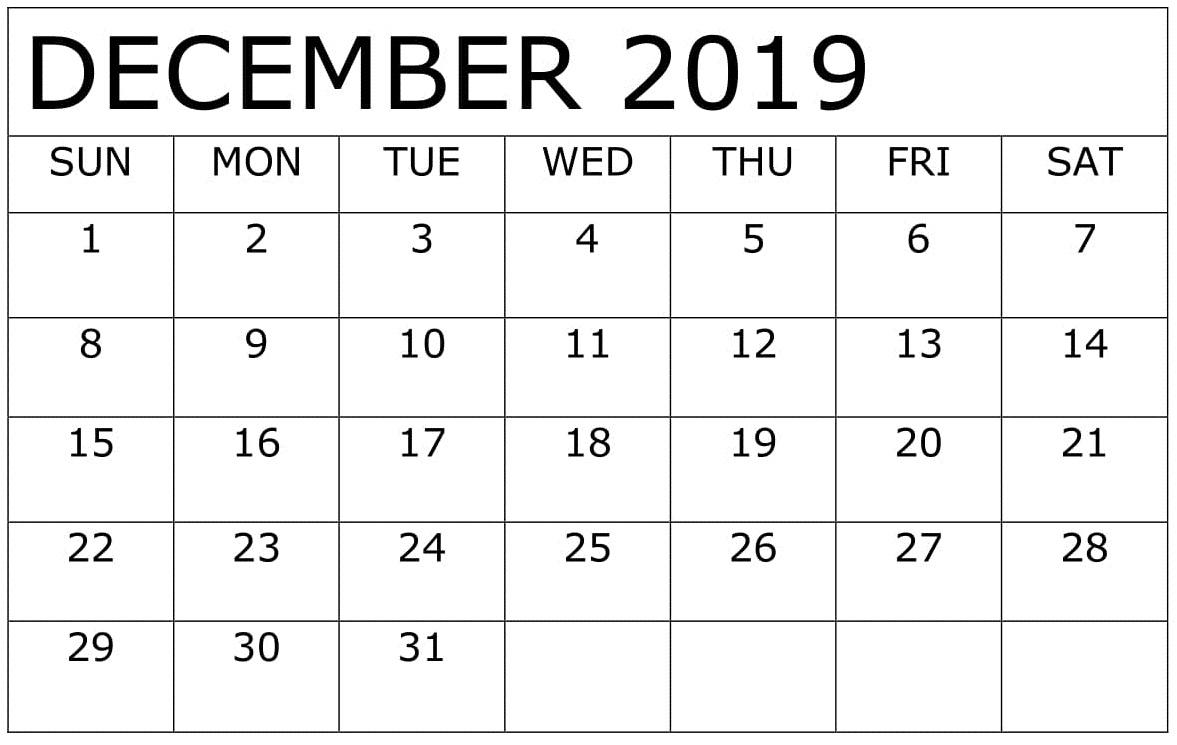 December 2019 Calendar Template Excel For Google Sheets with regard to Google Calendar Printable Template