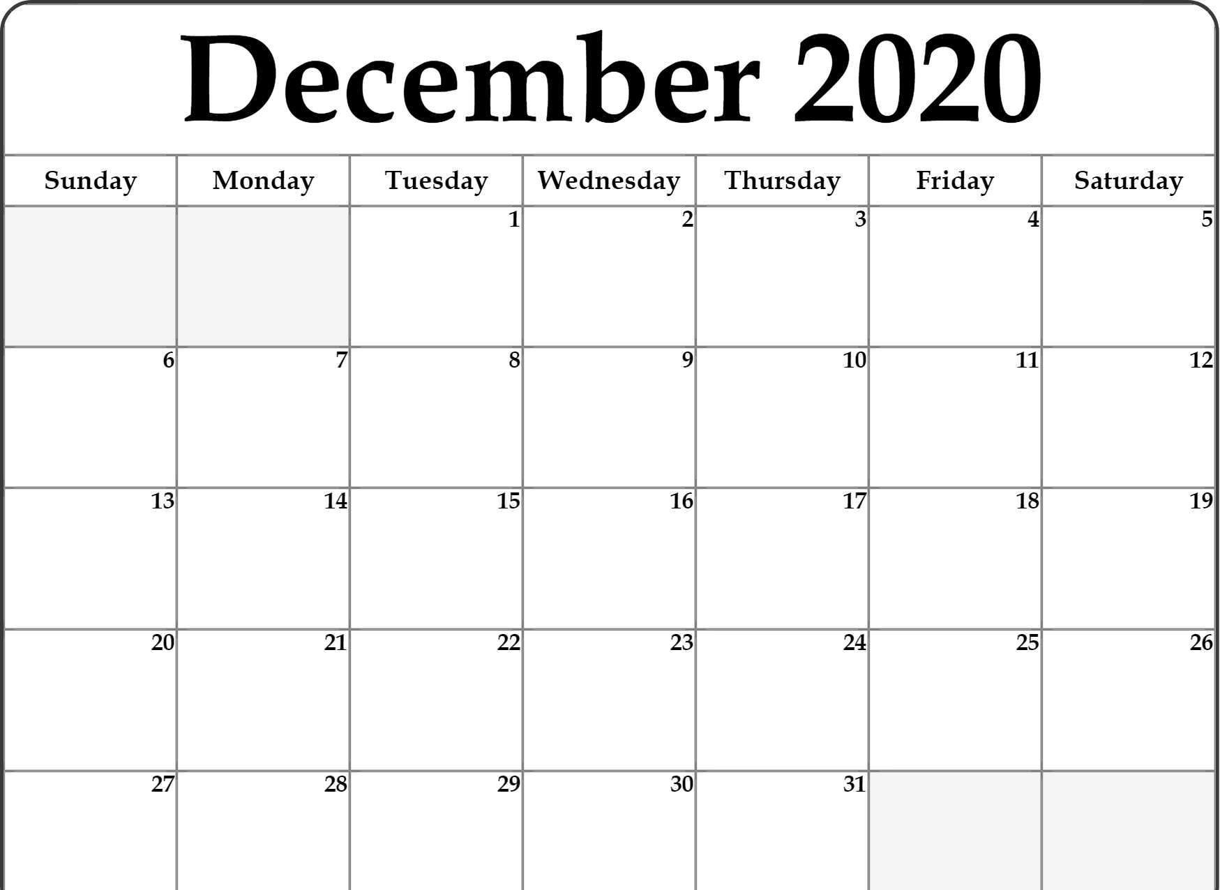 December 2020 Calendar Before Template with regard to Michel Zbinden December 2020