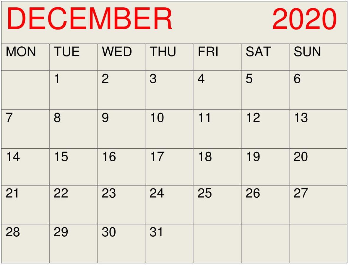 December 2020 Calendar Desktop Wallpaper  Latest Printable pertaining to Calander December 2020