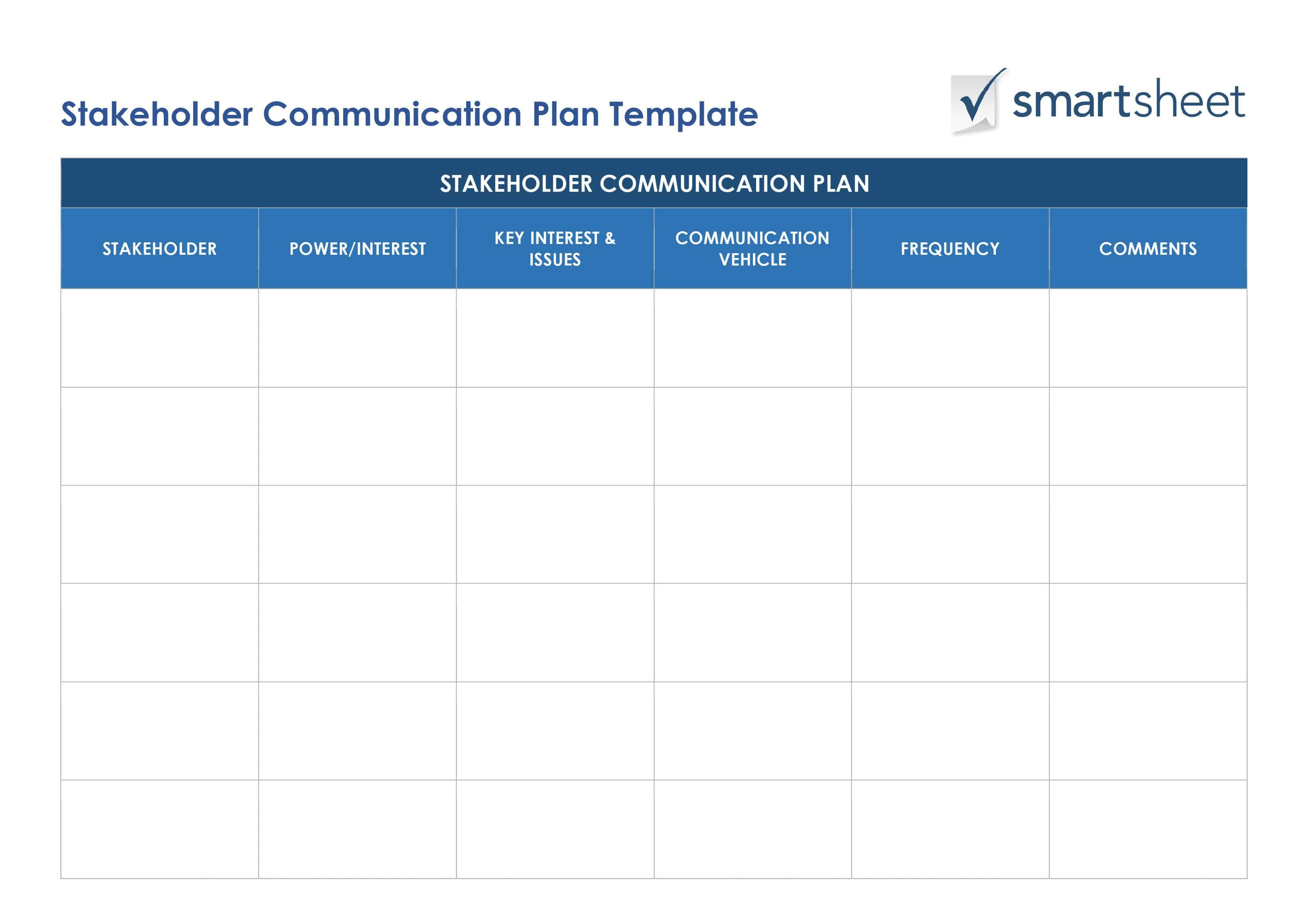 Definitive Guide To Stakeholder Management Smartsheet for Smartsheet Stakeholder Analysis