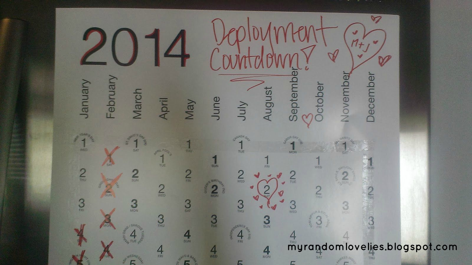 Deployment Countdown | My Random Lovelies for Deployment Countdown Calendar