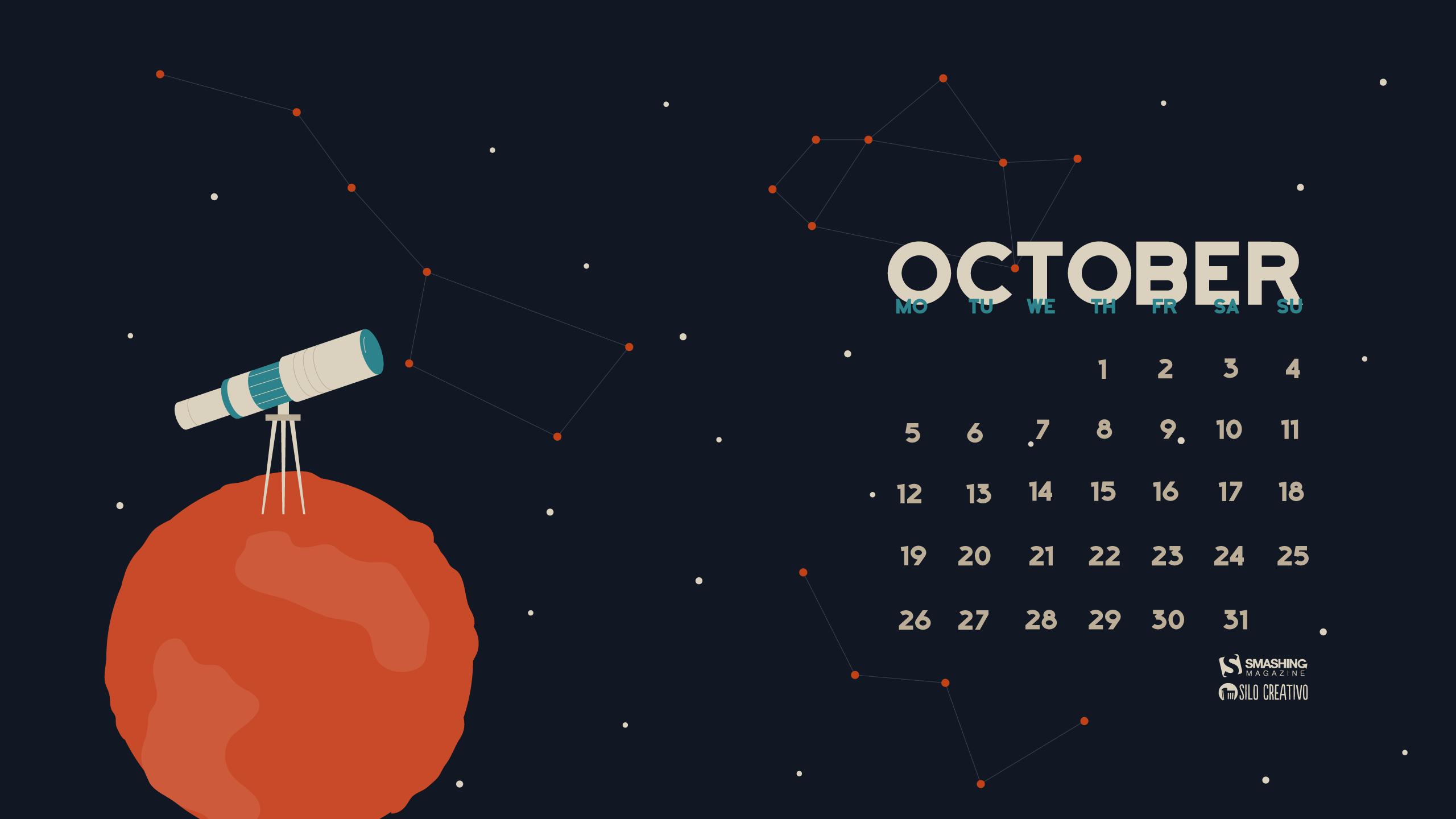 Desktop Wallpaper Calendars: October 2015 — Smashing Magazine inside Smashing Magazine Calendar