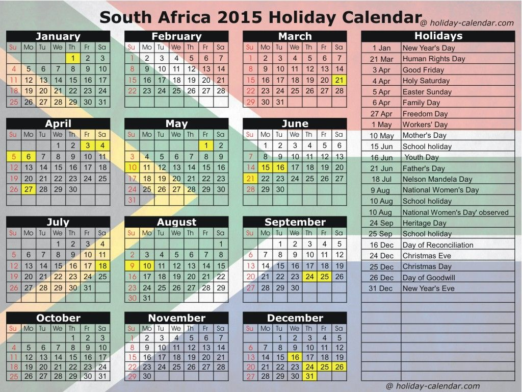 Did You Know In South Africa, News Years Is Spend On January pertaining to 2017 School Calendar South Africa
