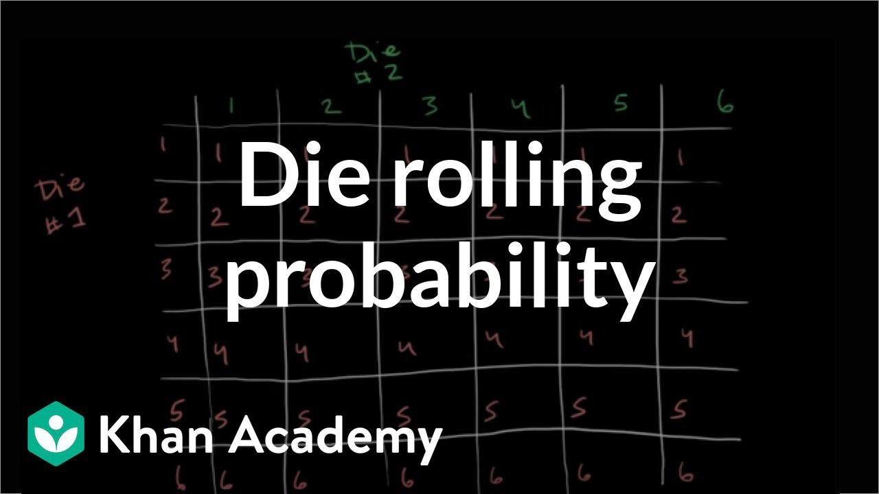 Die Rolling Probability | Probability And Combinatorics | Precalculus |  Khan Academy intended for Rolling Calendar Year Definition