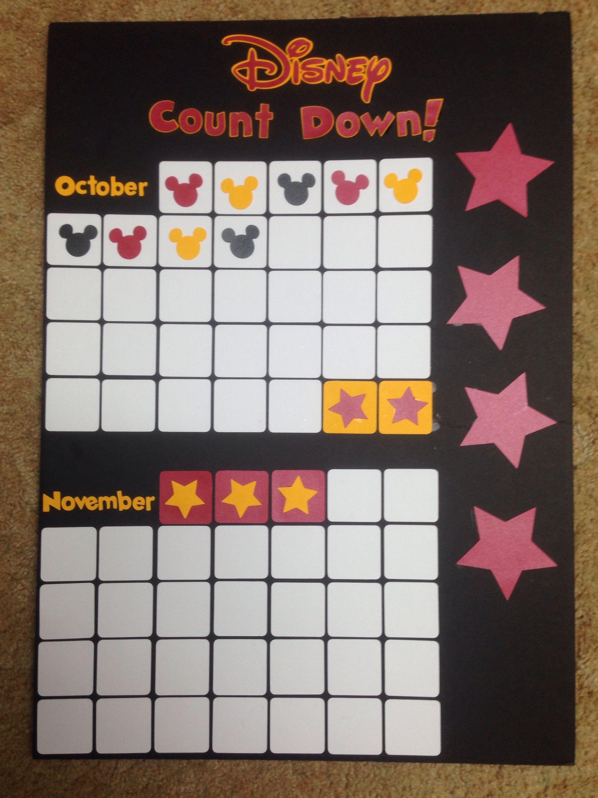 Disney Countdown Calendar! | Disney World Countdown intended for Disney World Countdown Calendar Printable