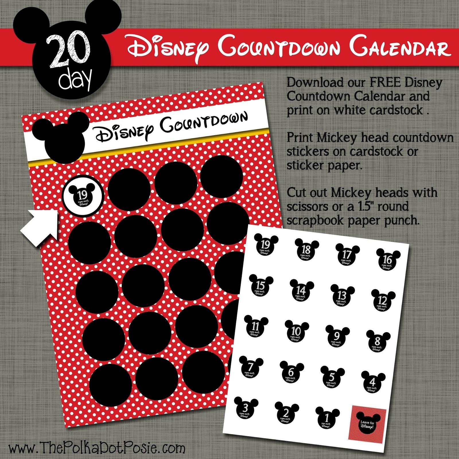 Disney Countdown Calendar Printable That Are Playful – Kelly for Disney World Countdown Calendar Printable