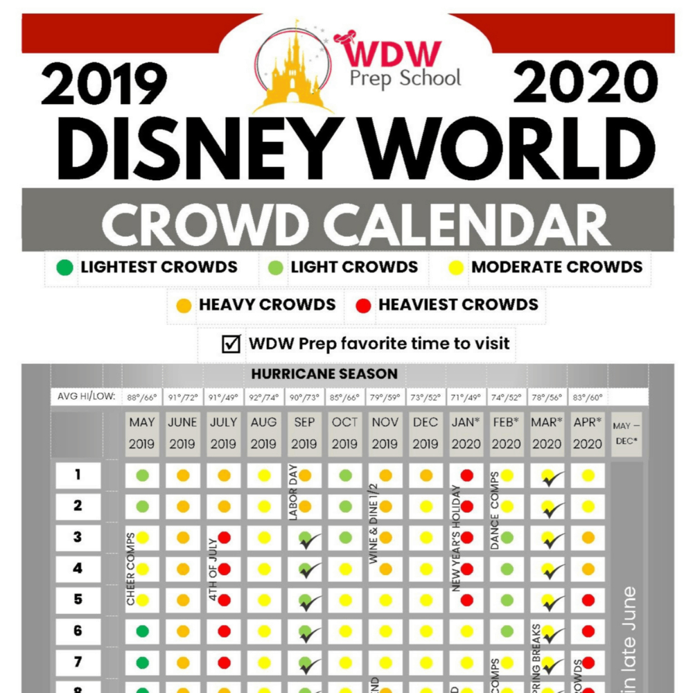 Disney World 2019 & 2020 Crowd Calendar (Best Times To Go pertaining to Dads Crowd Calendar 2020