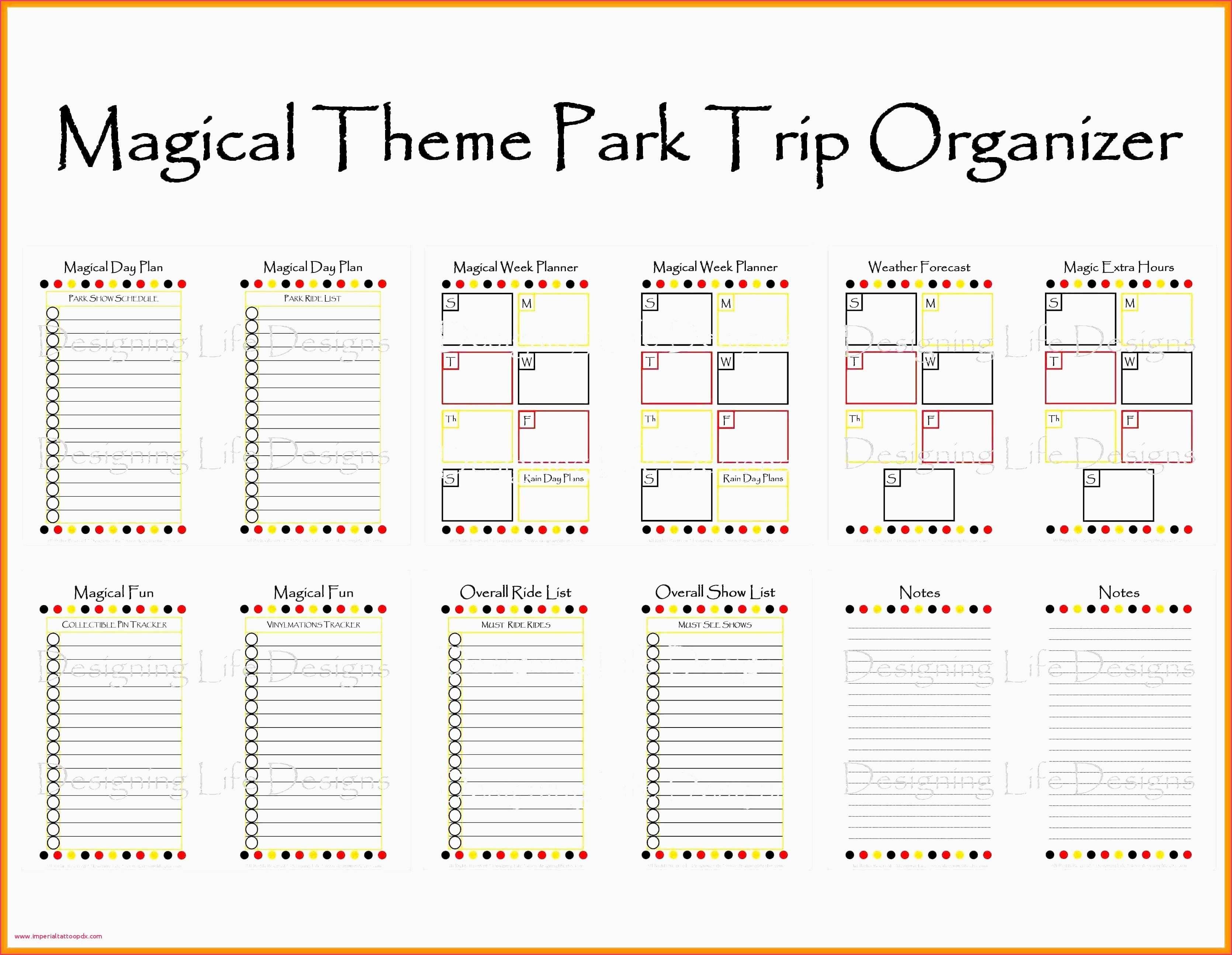 Disney World Blank Itinerary Template Calendar Template for Disney World Itinerary Template