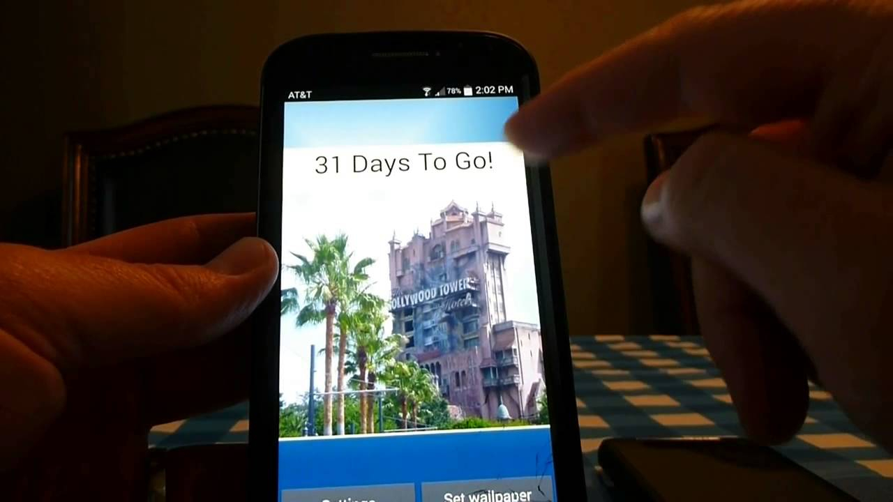 Disney World Countdown Deluxe Tutorial in Disney Countdown Widget