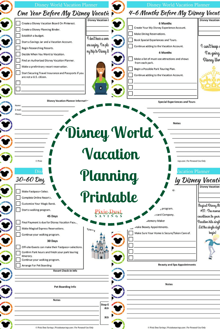 Disney World Vacation Planning Guide + Free Disney Planning pertaining to Disney Vacation Planner Template